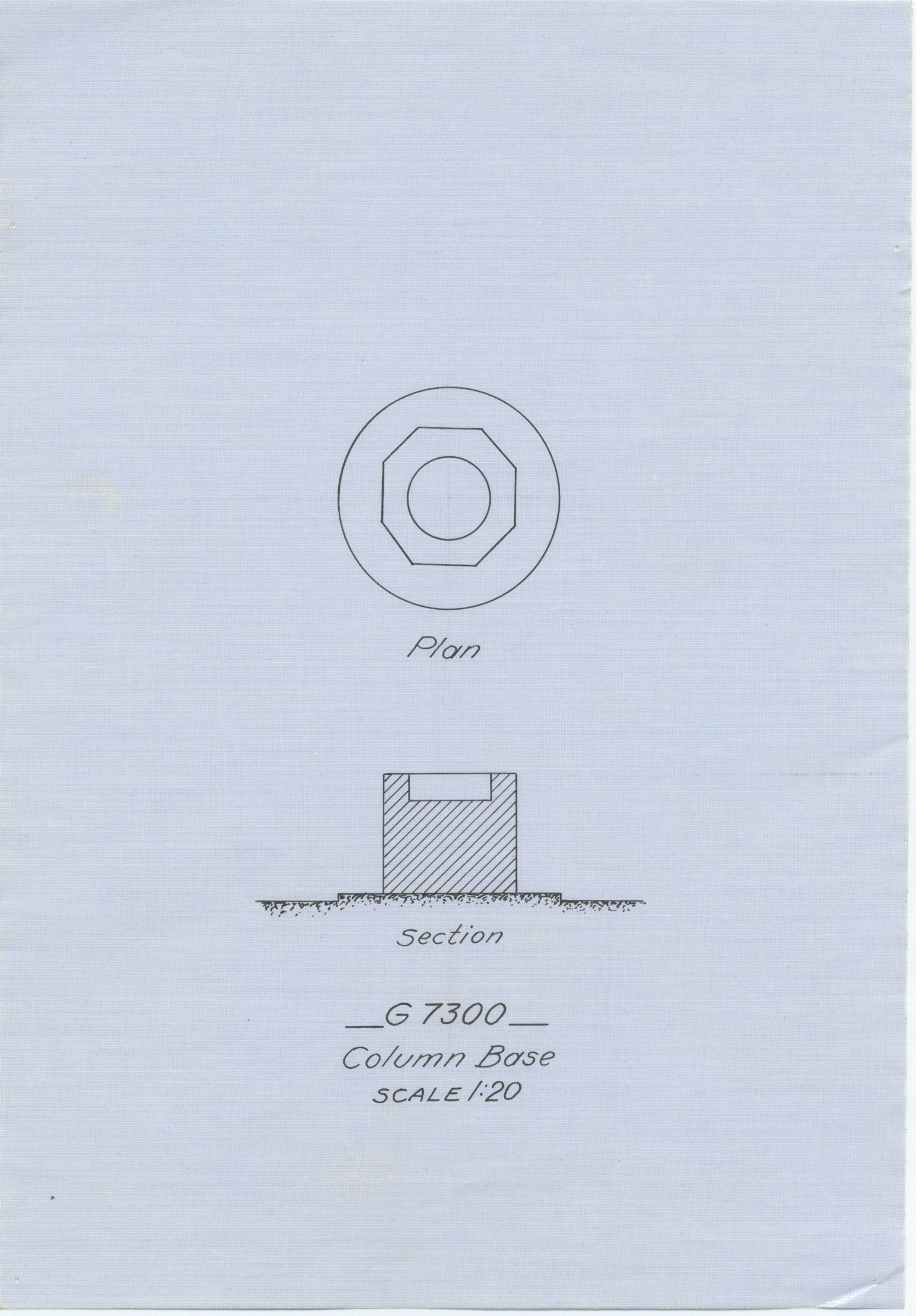 Maps and plans: G 7310-7320: G 7320, column base