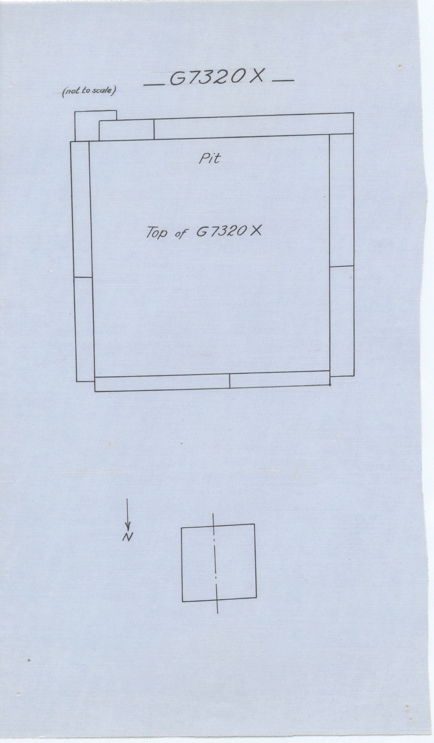 Maps and plans: G 7310-7320: G 7320, Shaft X