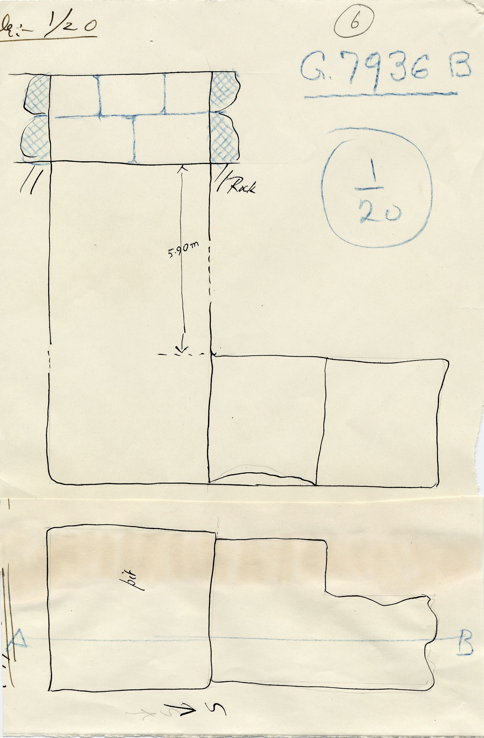 Maps and plans: G 7936, Shaft B