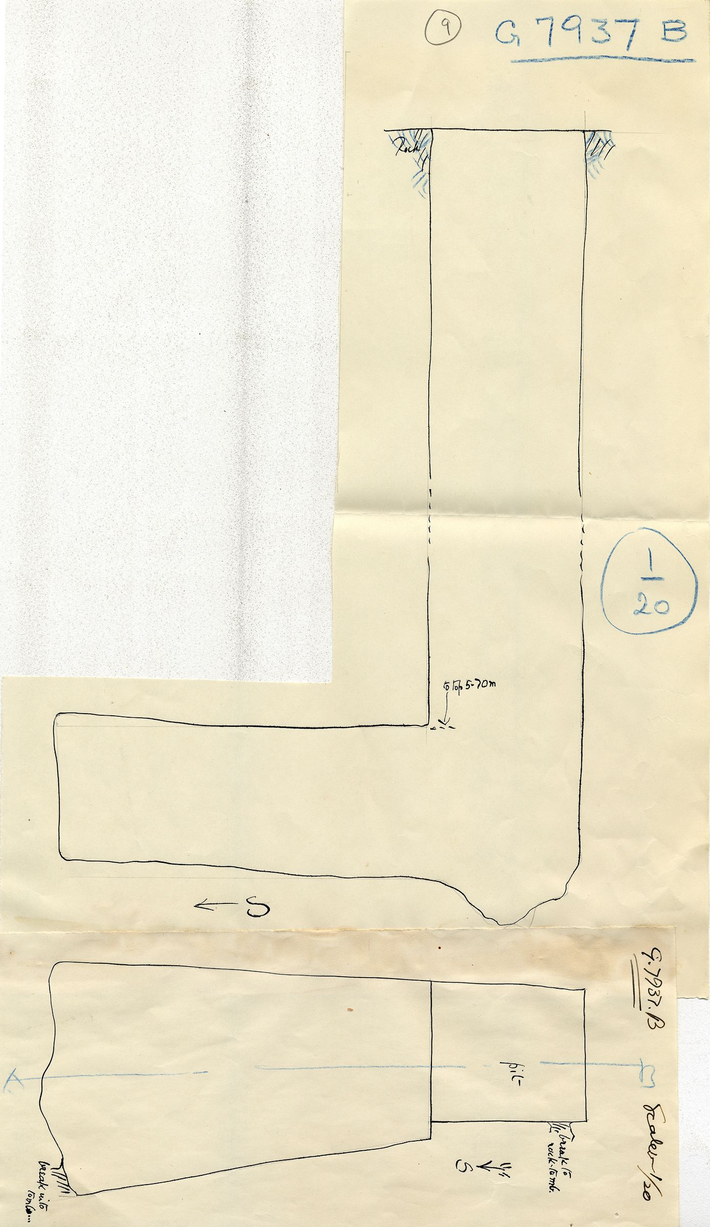 Maps and plans: G 7937, Shaft B