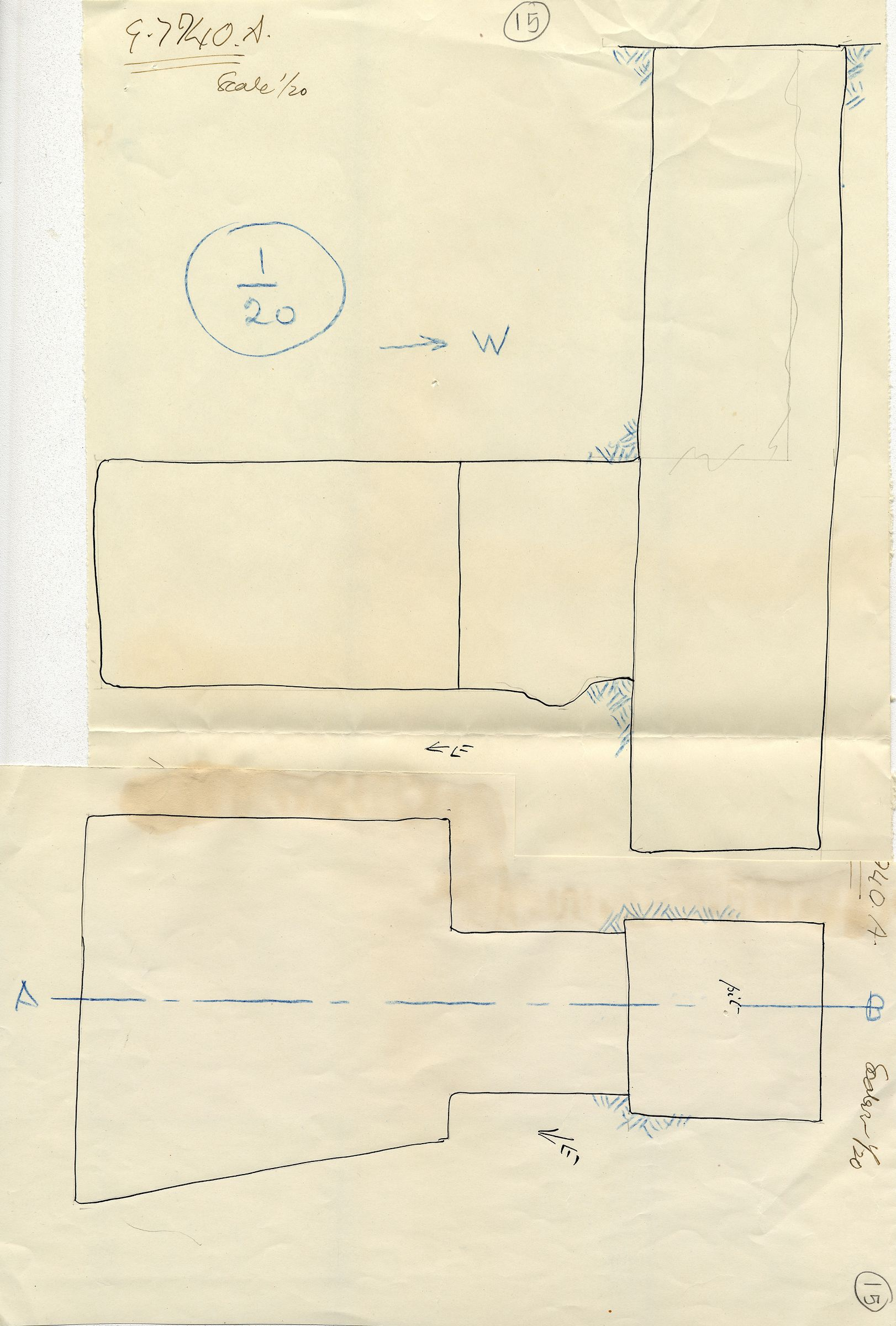 Maps and plans: G 7940, Shaft A