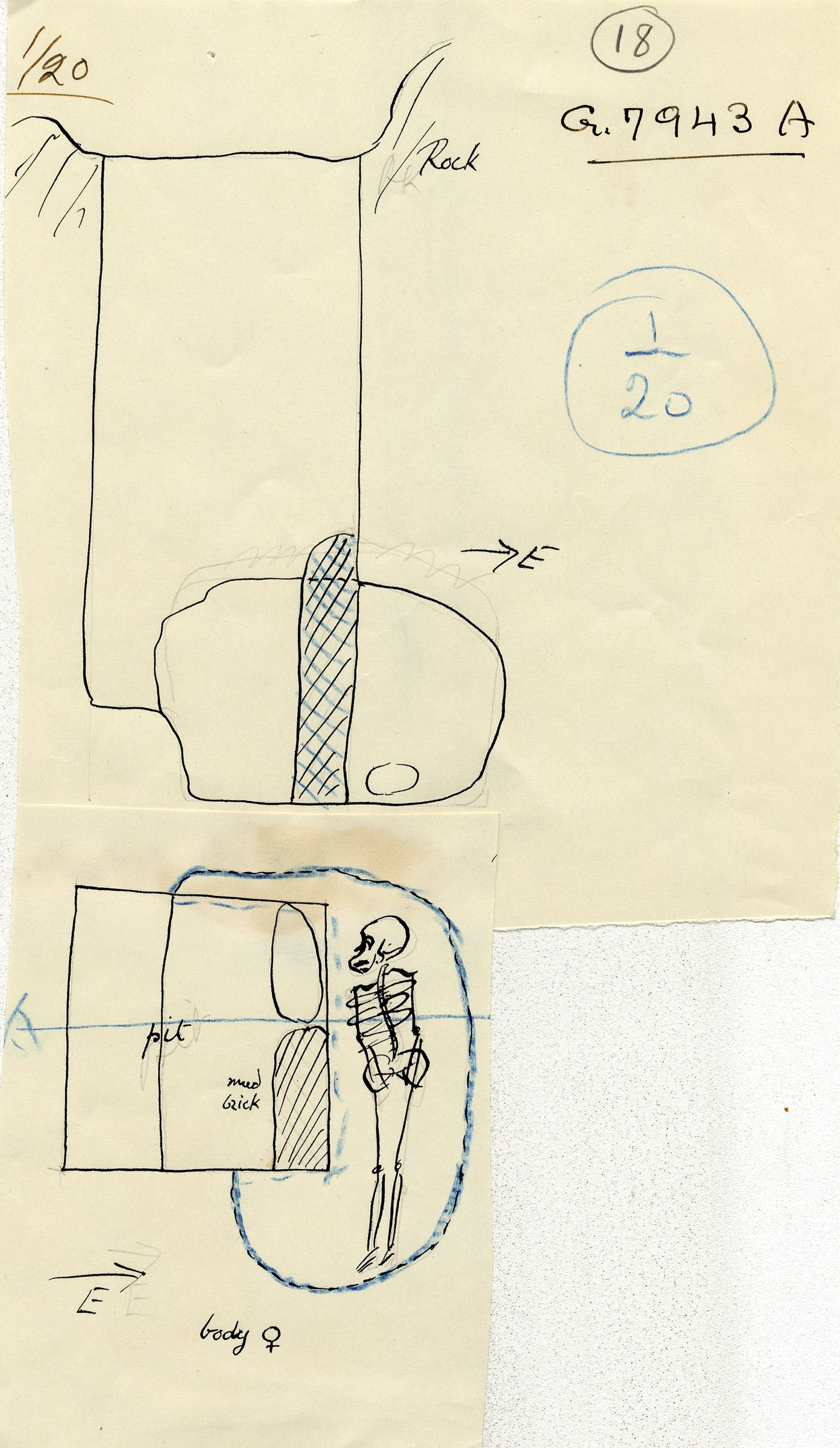 Maps and plans: G 7943, Shaft A