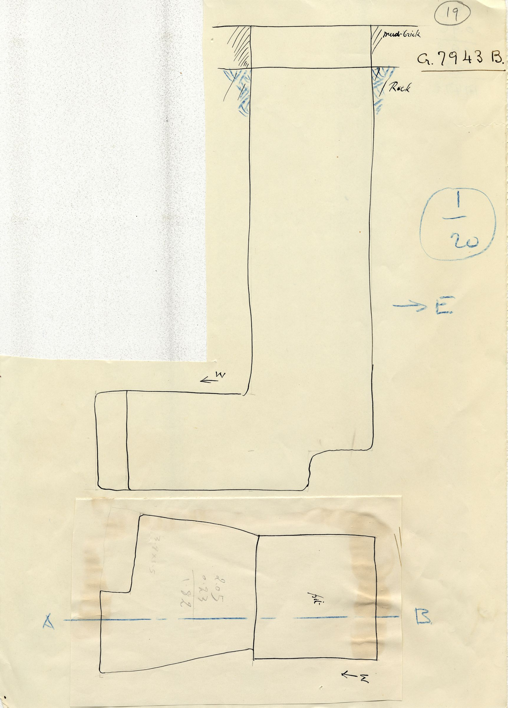Maps and plans: G 7943, Shaft B