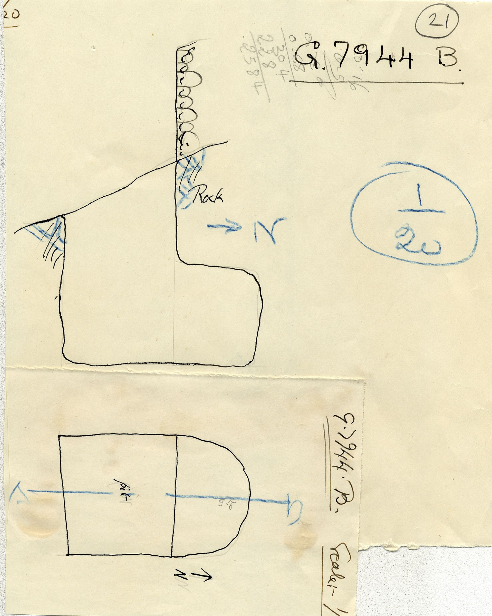 Maps and plans: G 7944, Shaft B