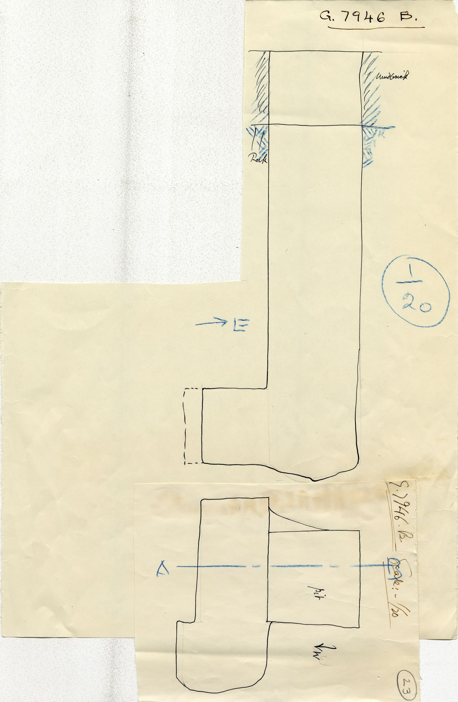 Maps and plans: G 7946, Shaft B