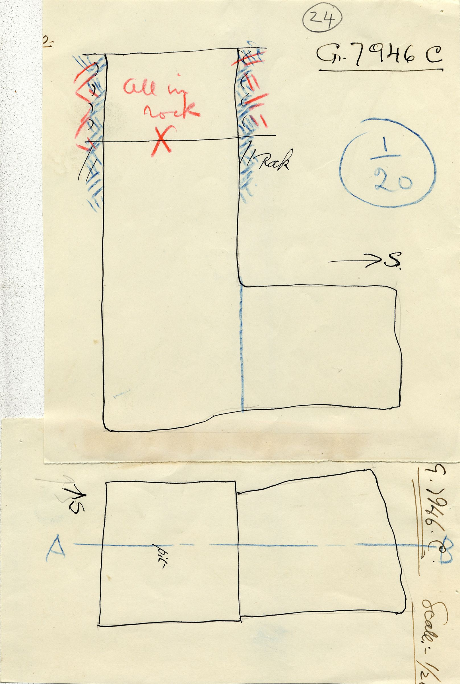 Maps and plans: G 7946, Shaft C (= G 7933)