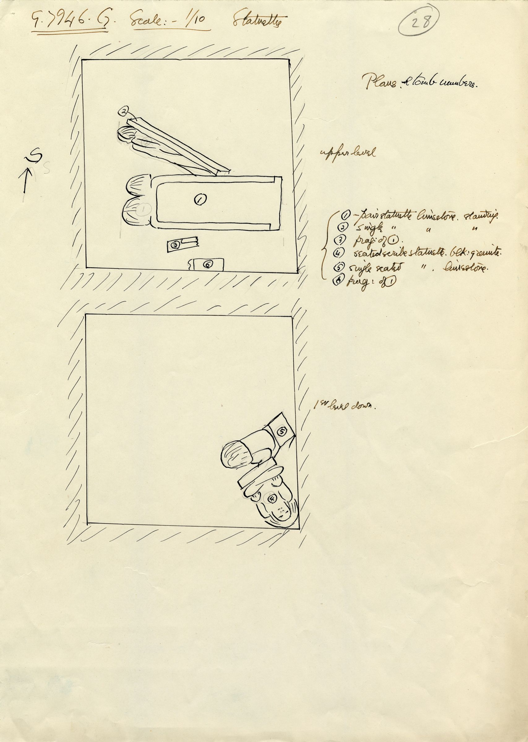 Maps and plans: G 7946, Shaft G