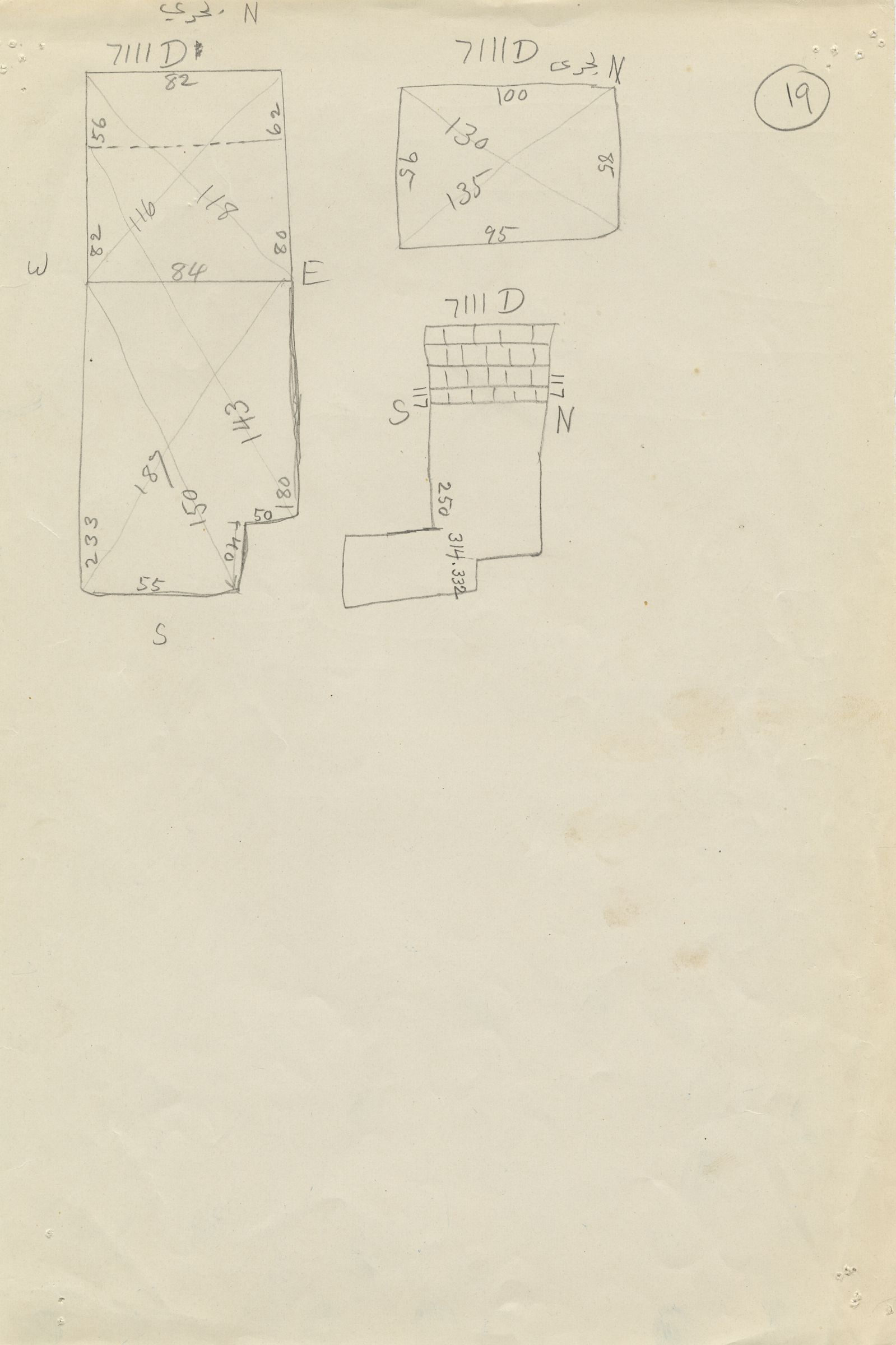 Maps and plans: G 7111, Shaft D