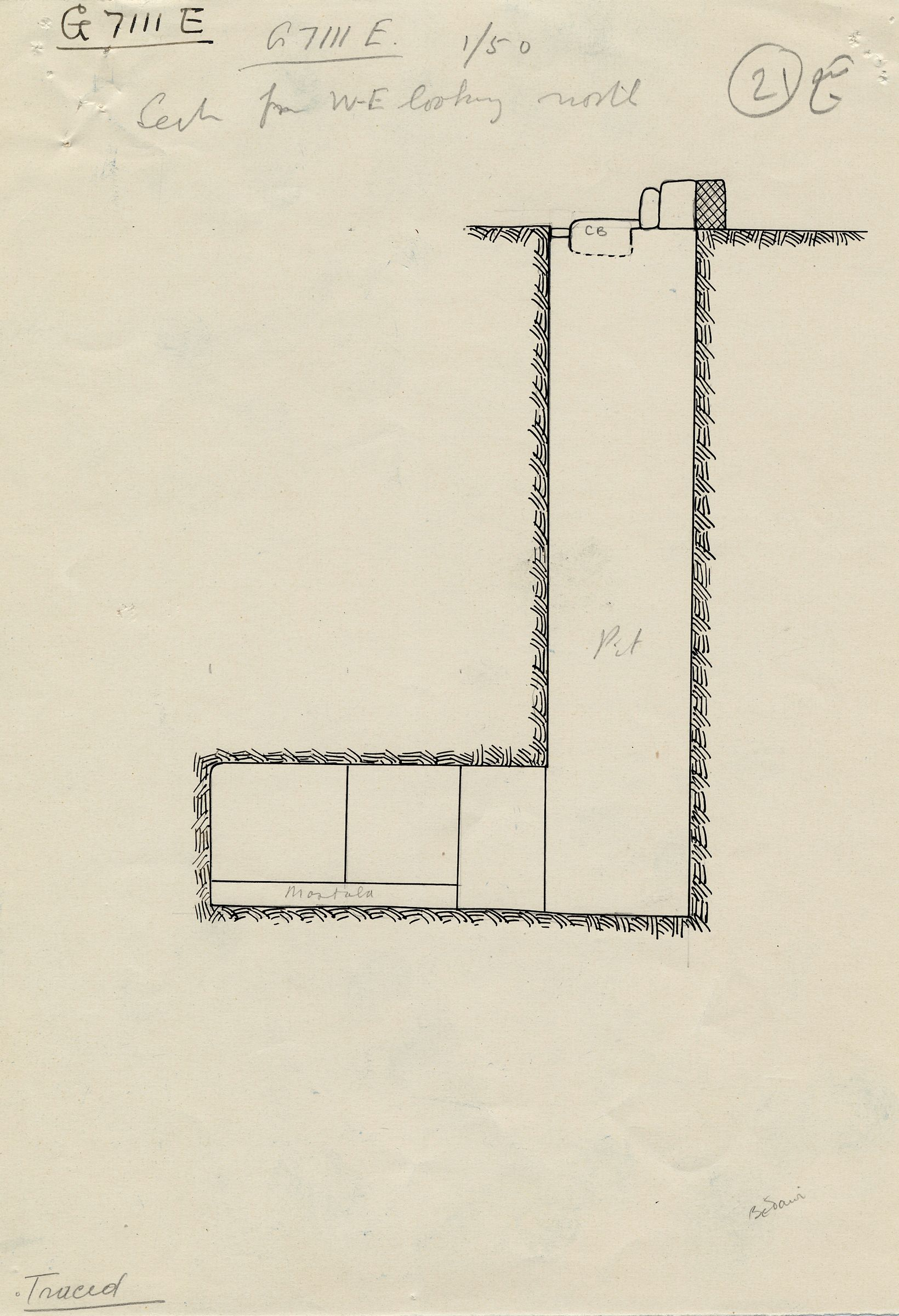 Maps and plans: G 7111, Shaft E