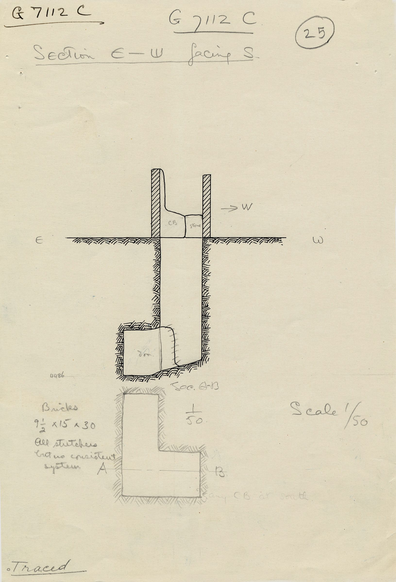 Maps and plans: G 7112, Shaft C
