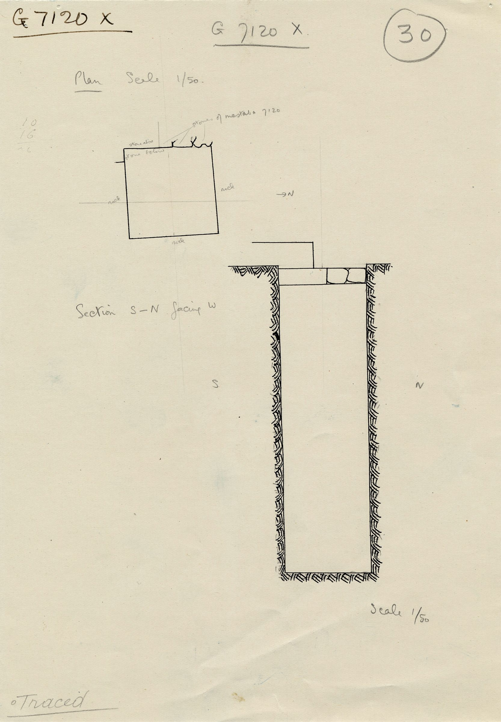 Maps and plans: G 7110-7120: G 7120, Shaft X