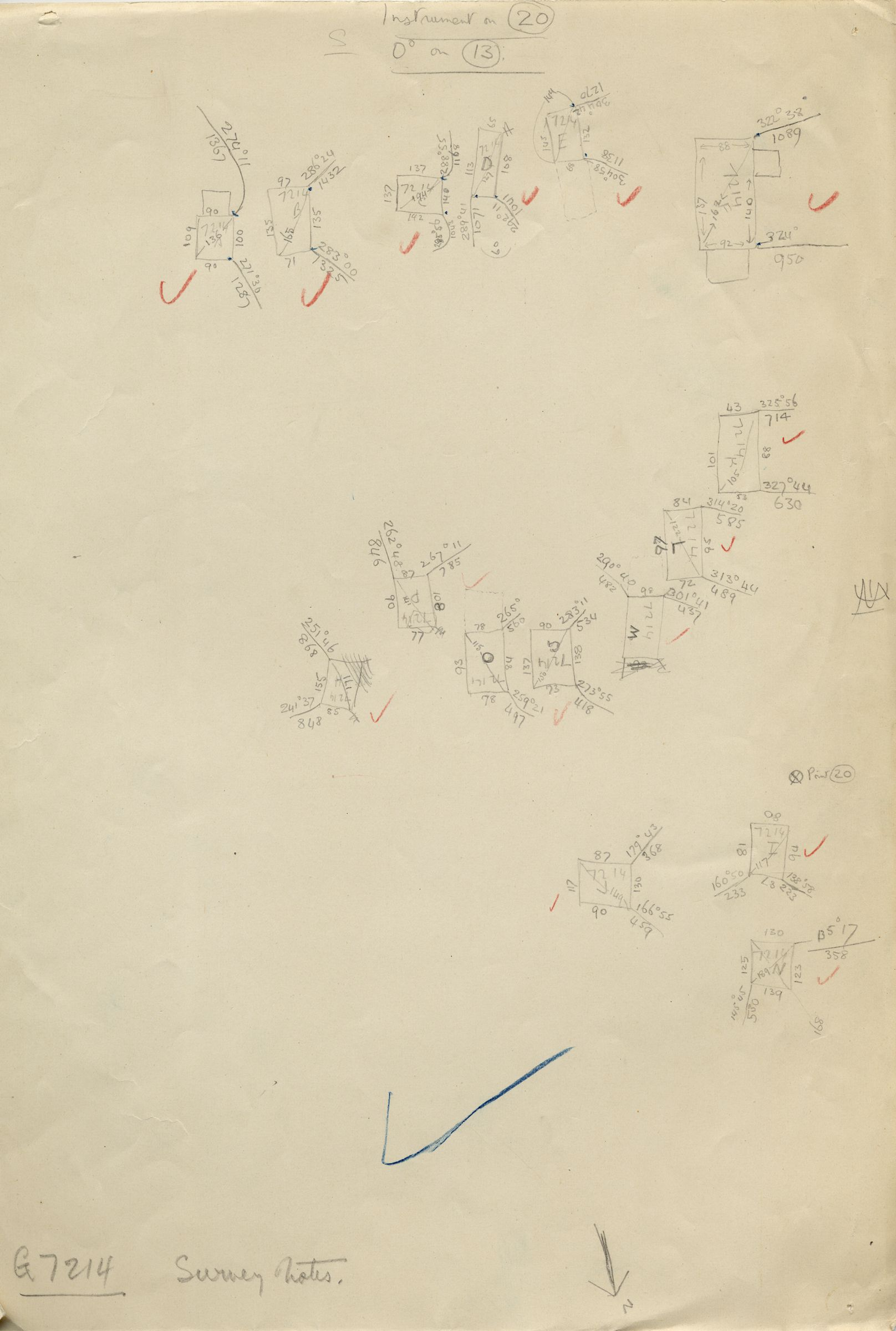Maps and plans: G 7214, Sketch plan of shafts