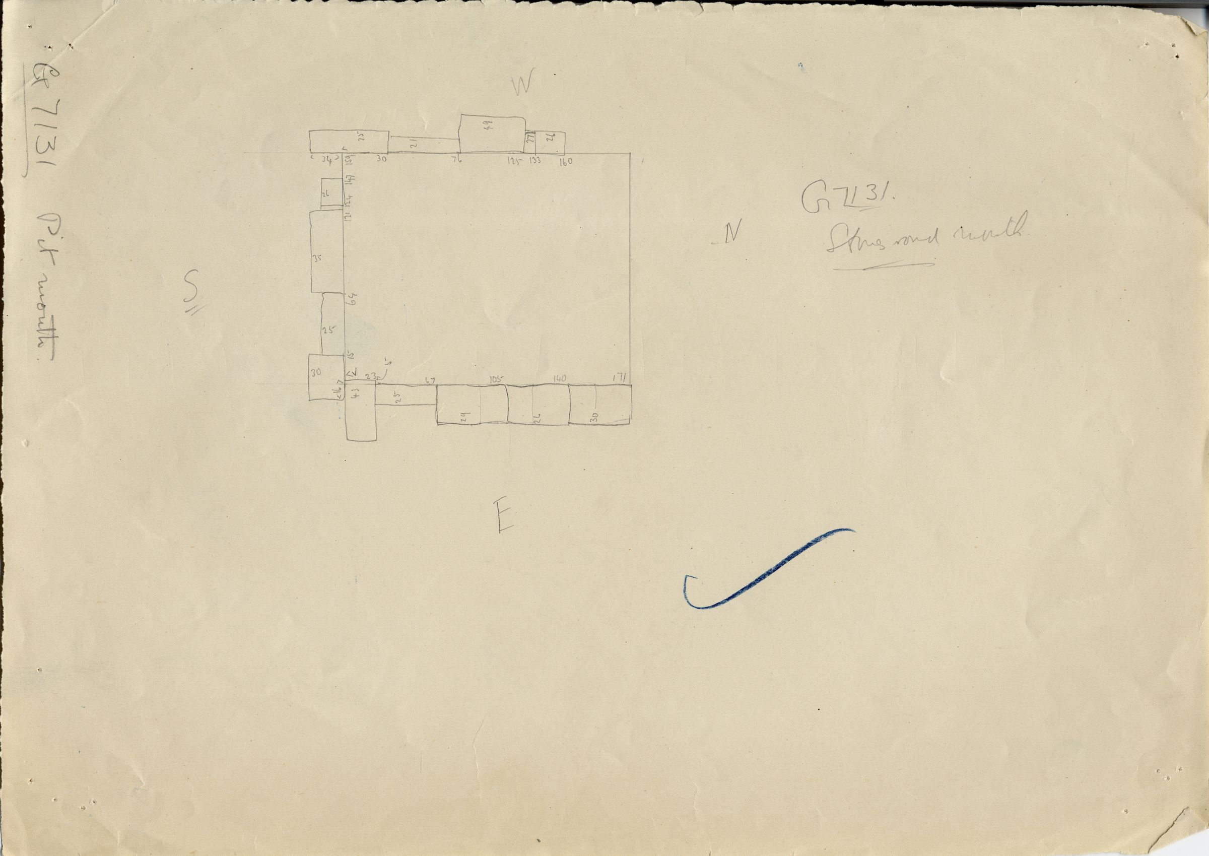 Maps and plans: G 7131, Shaft A