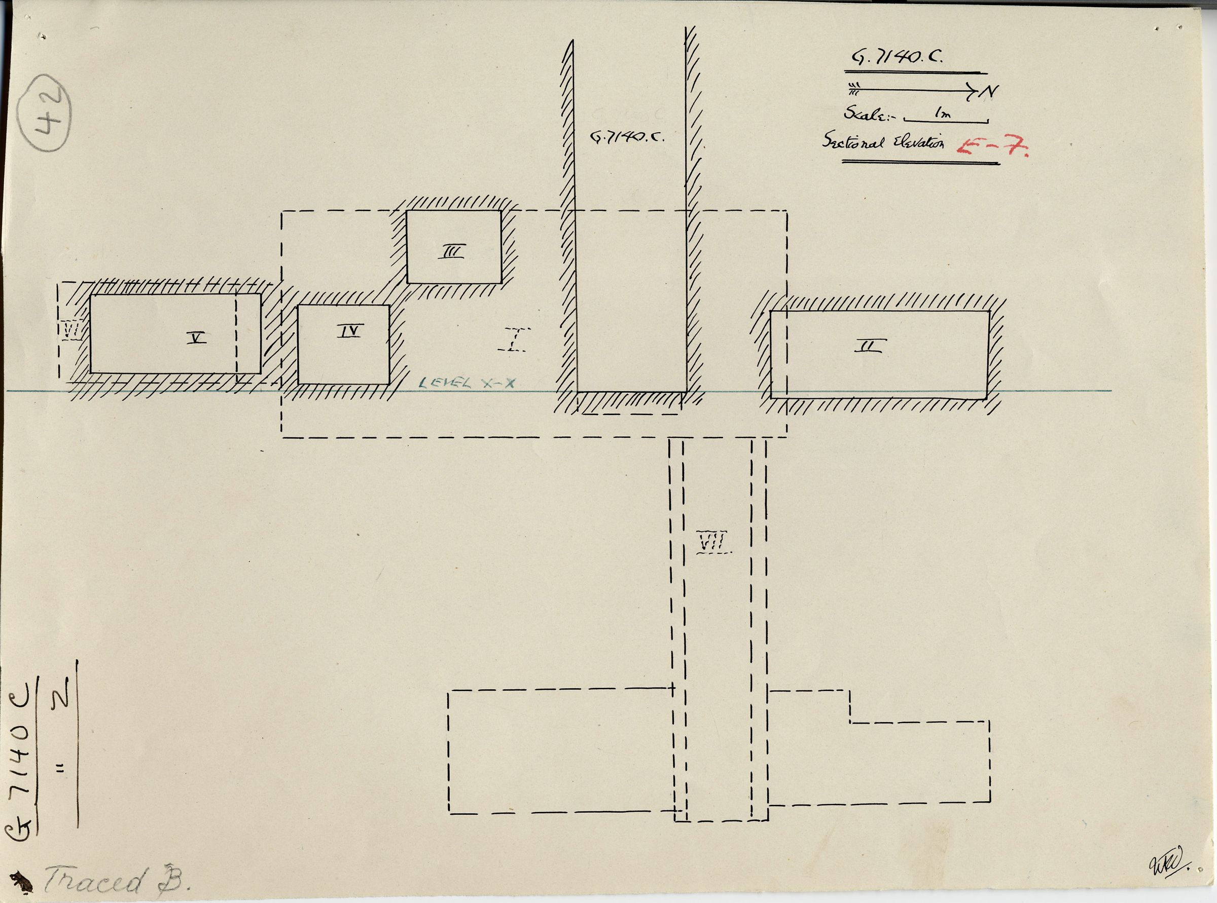 Maps and plans: G 7130-7140: G 7140, Shaft C