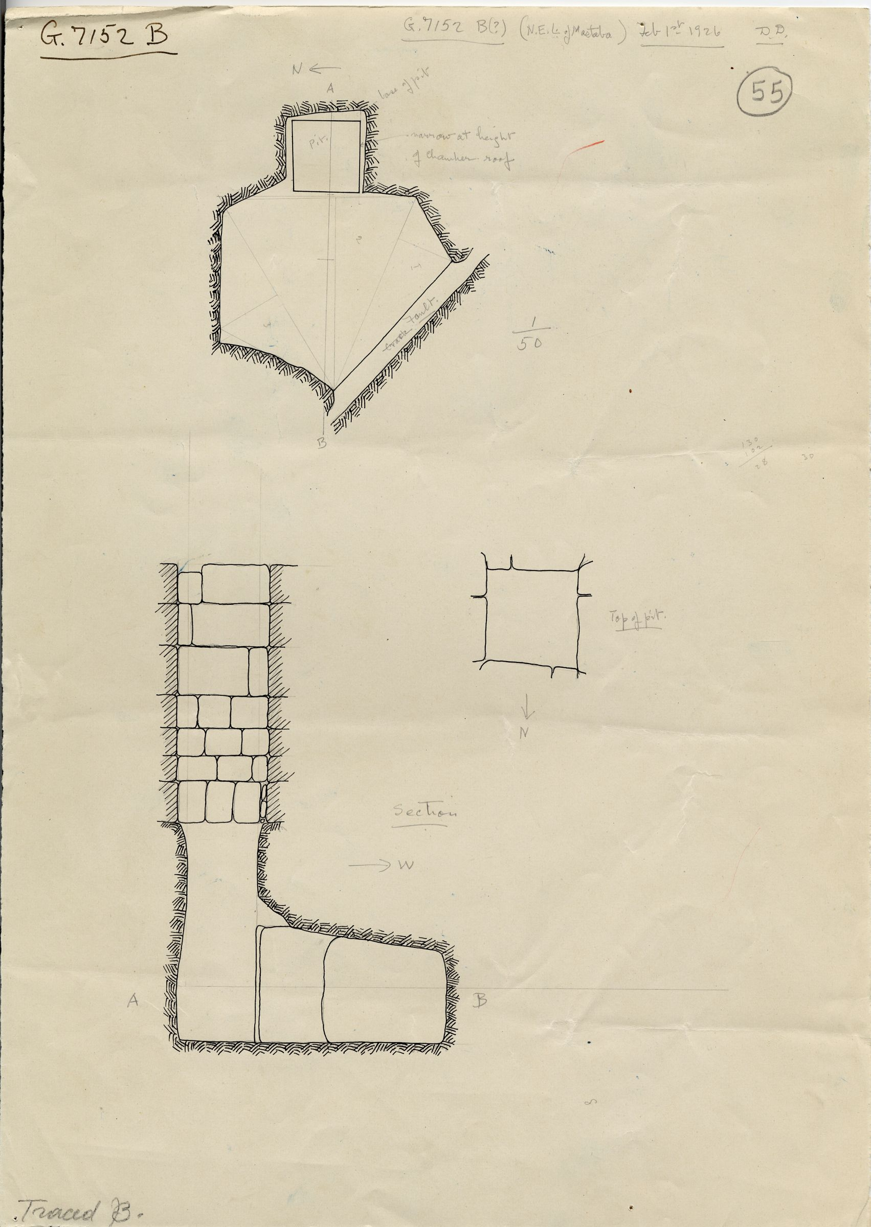 Maps and plans: G 7152, Shaft B
