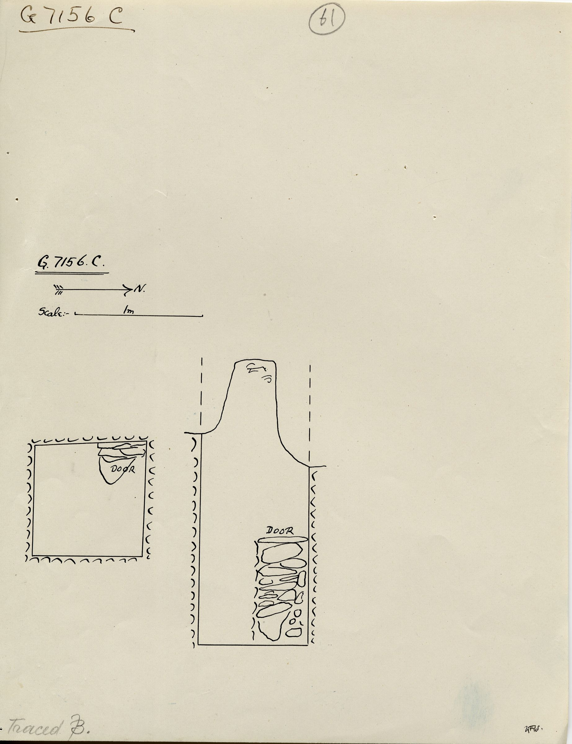 Maps and plans: G 7156, Shaft C