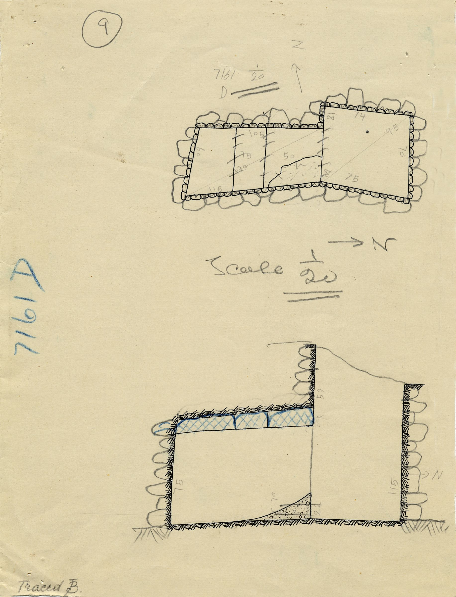 Maps and plans: G 7161, Shaft D