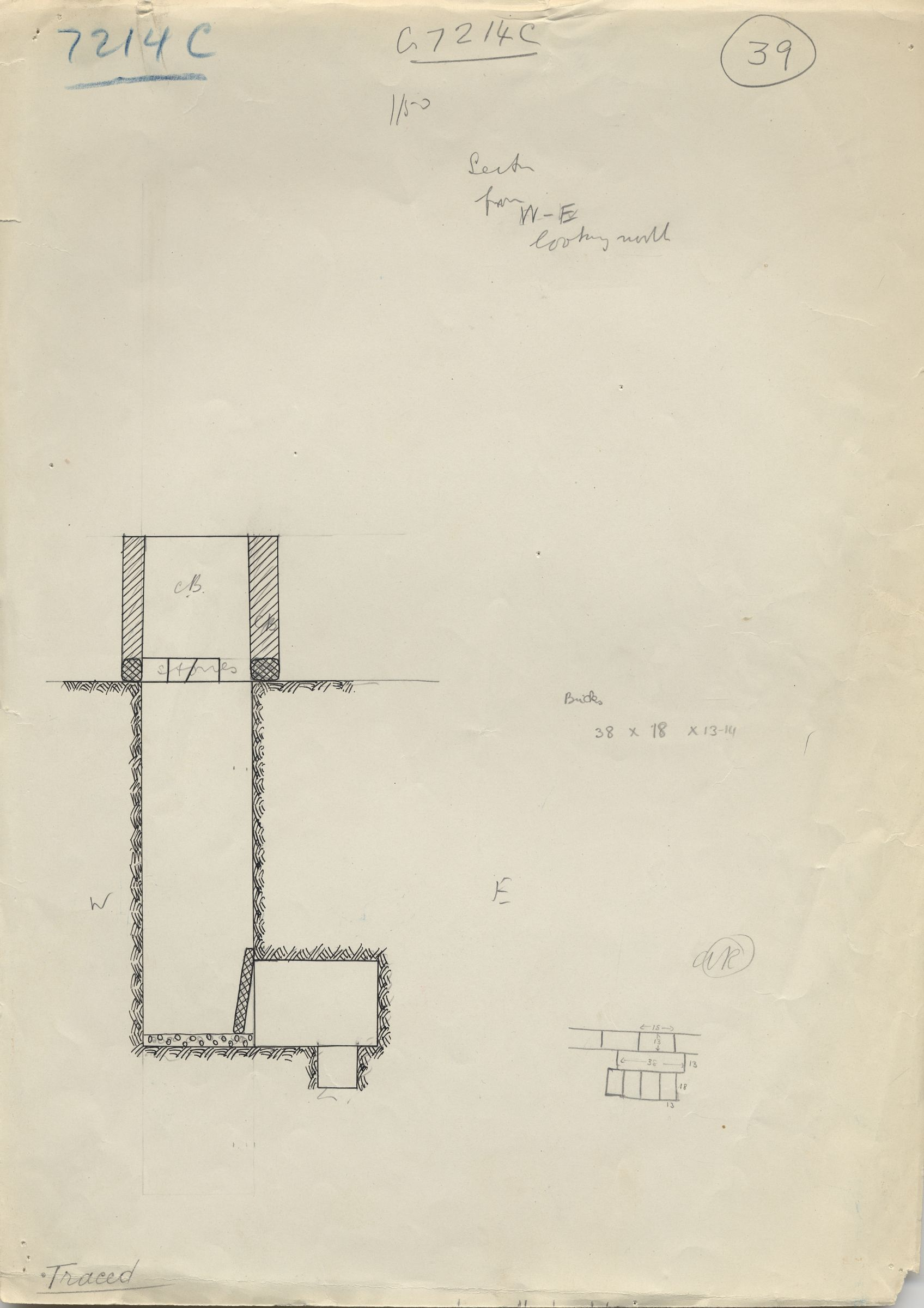 Maps and plans: G 7214, Shaft C