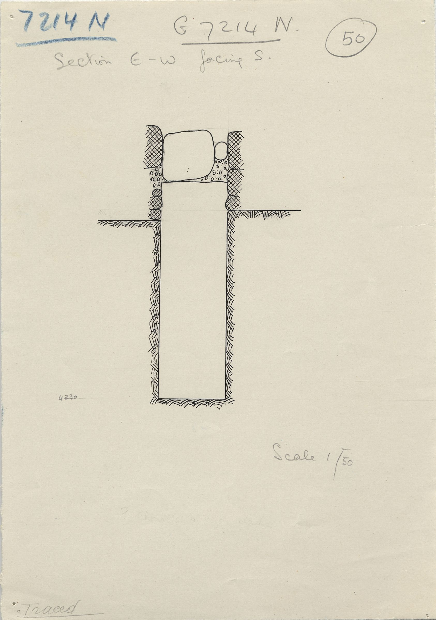 Maps and plans: G 7214, Shaft N