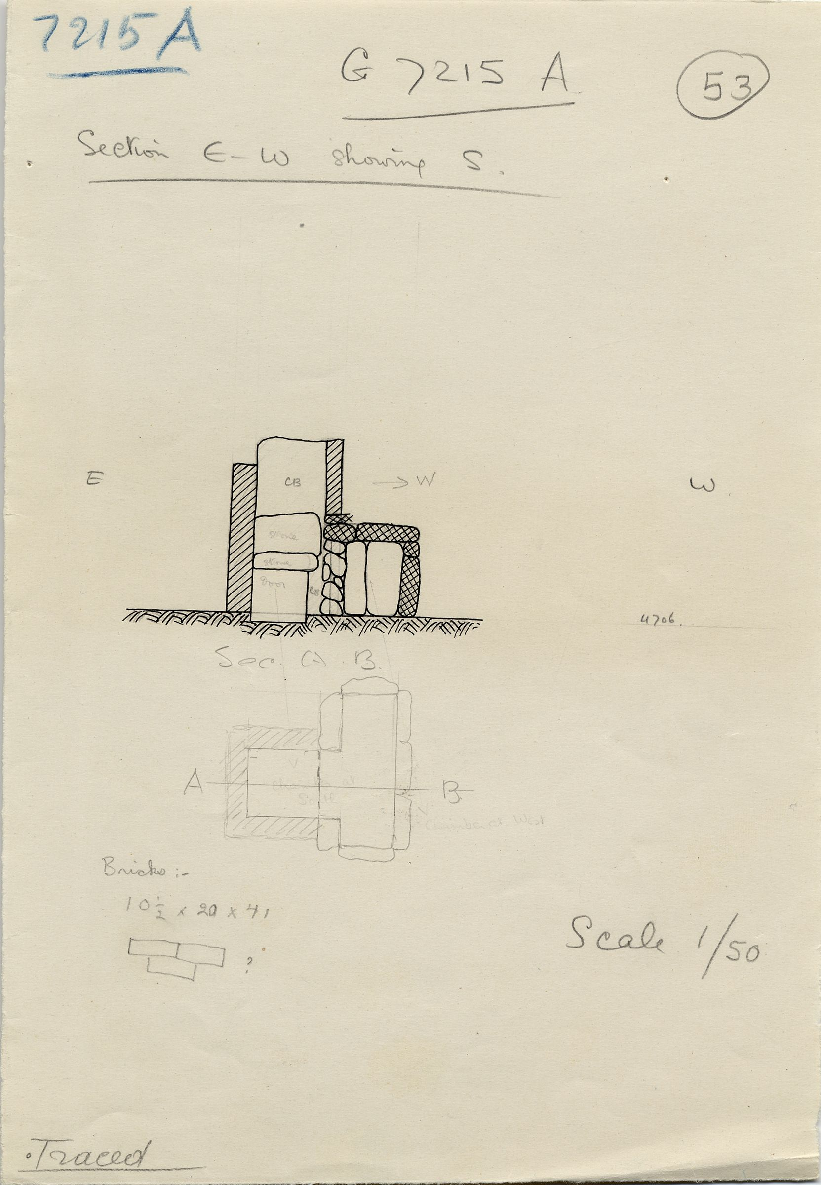 Maps and plans: G 7215, Shaft A