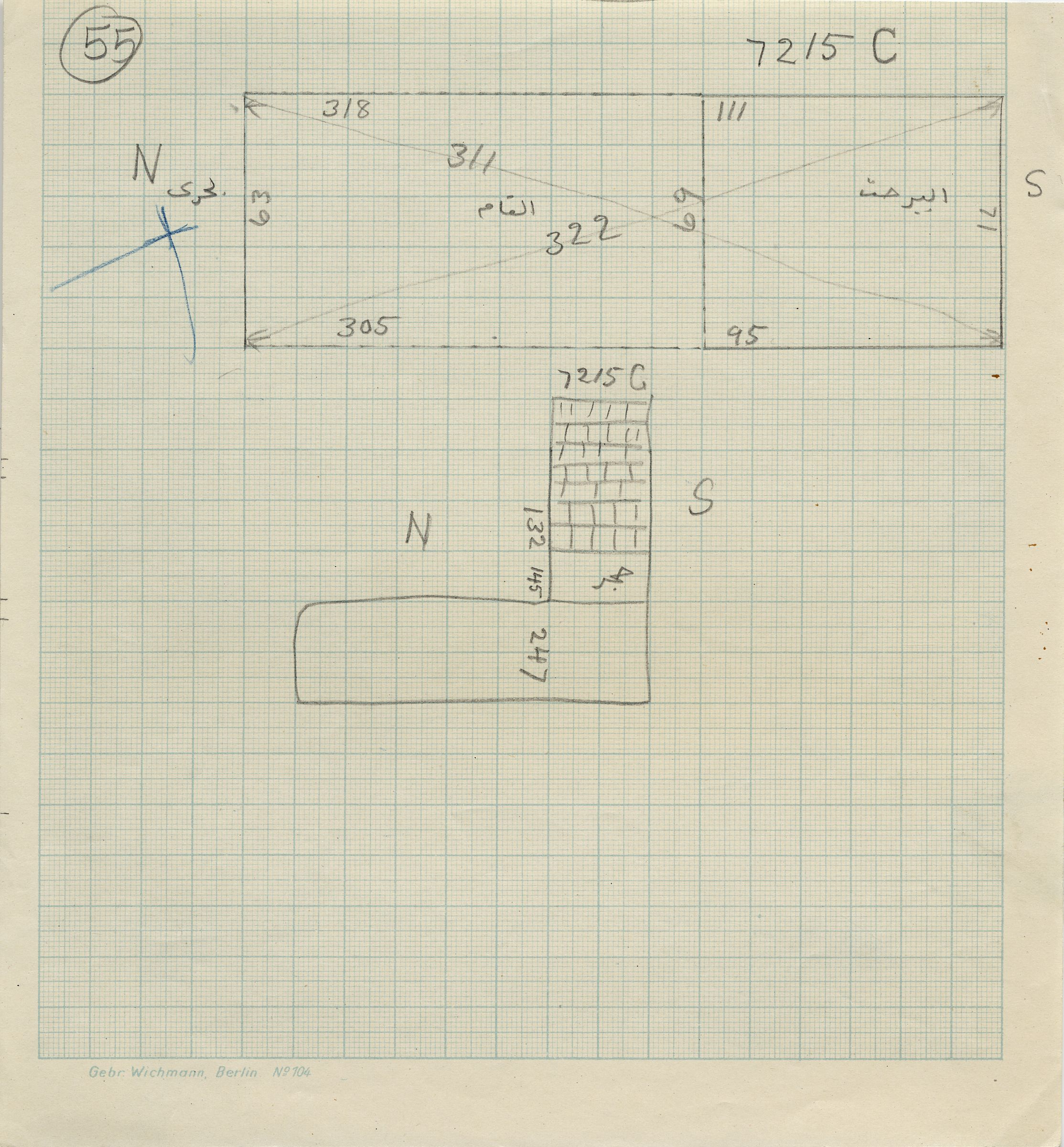 Maps and plans: G 7215, Shaft C