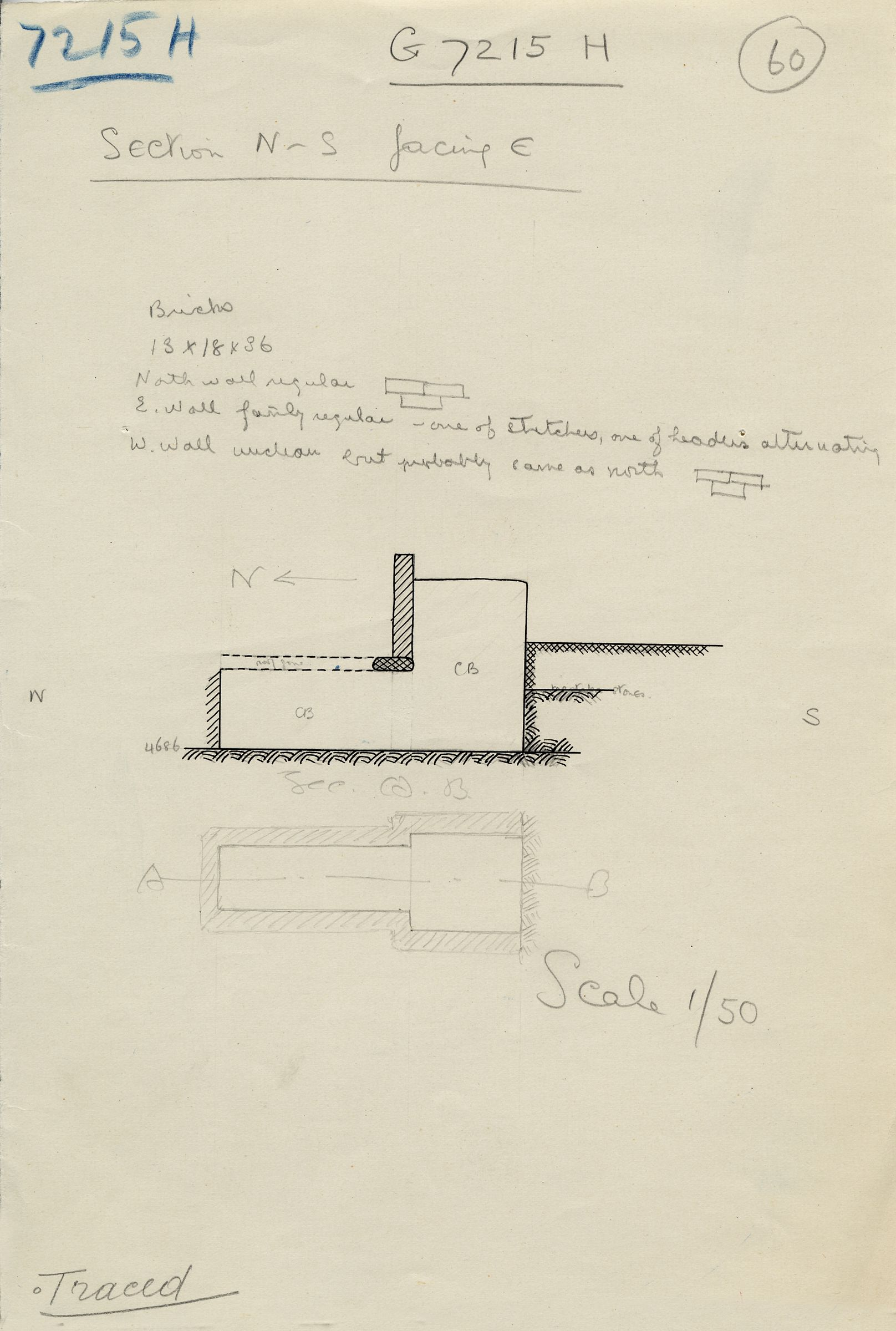 Maps and plans: G 7215, Shaft H