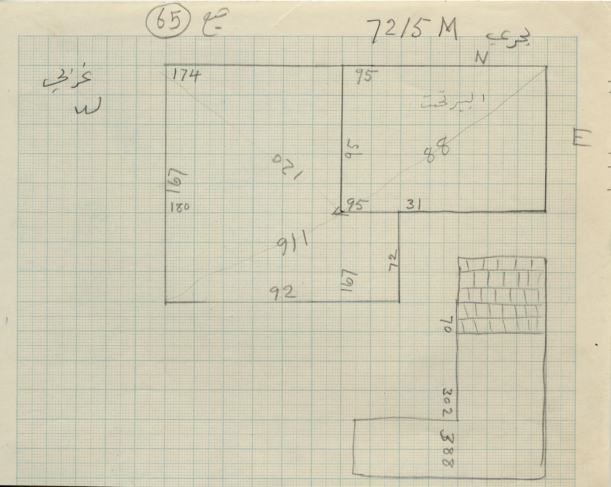 Maps and plans: G 7215, Shaft M