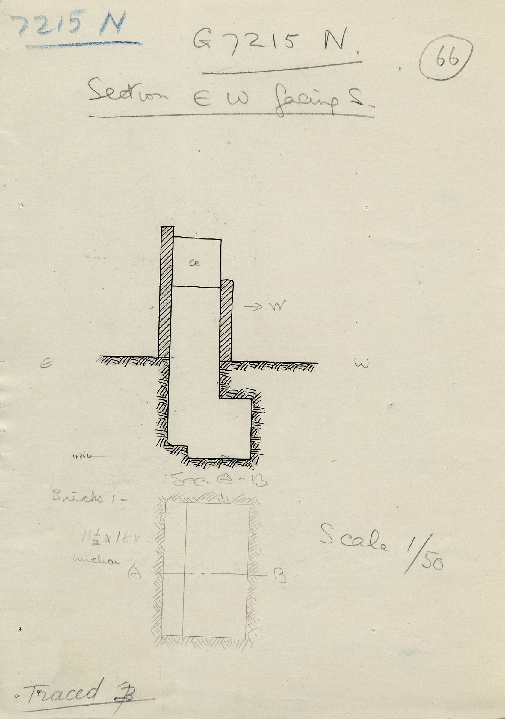 Maps and plans: G 7215, Shaft N