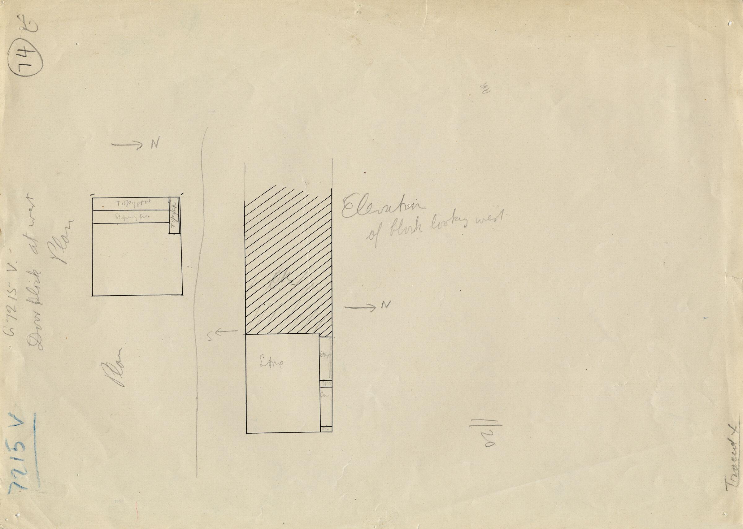 Maps and plans: G 7215, Shaft V
