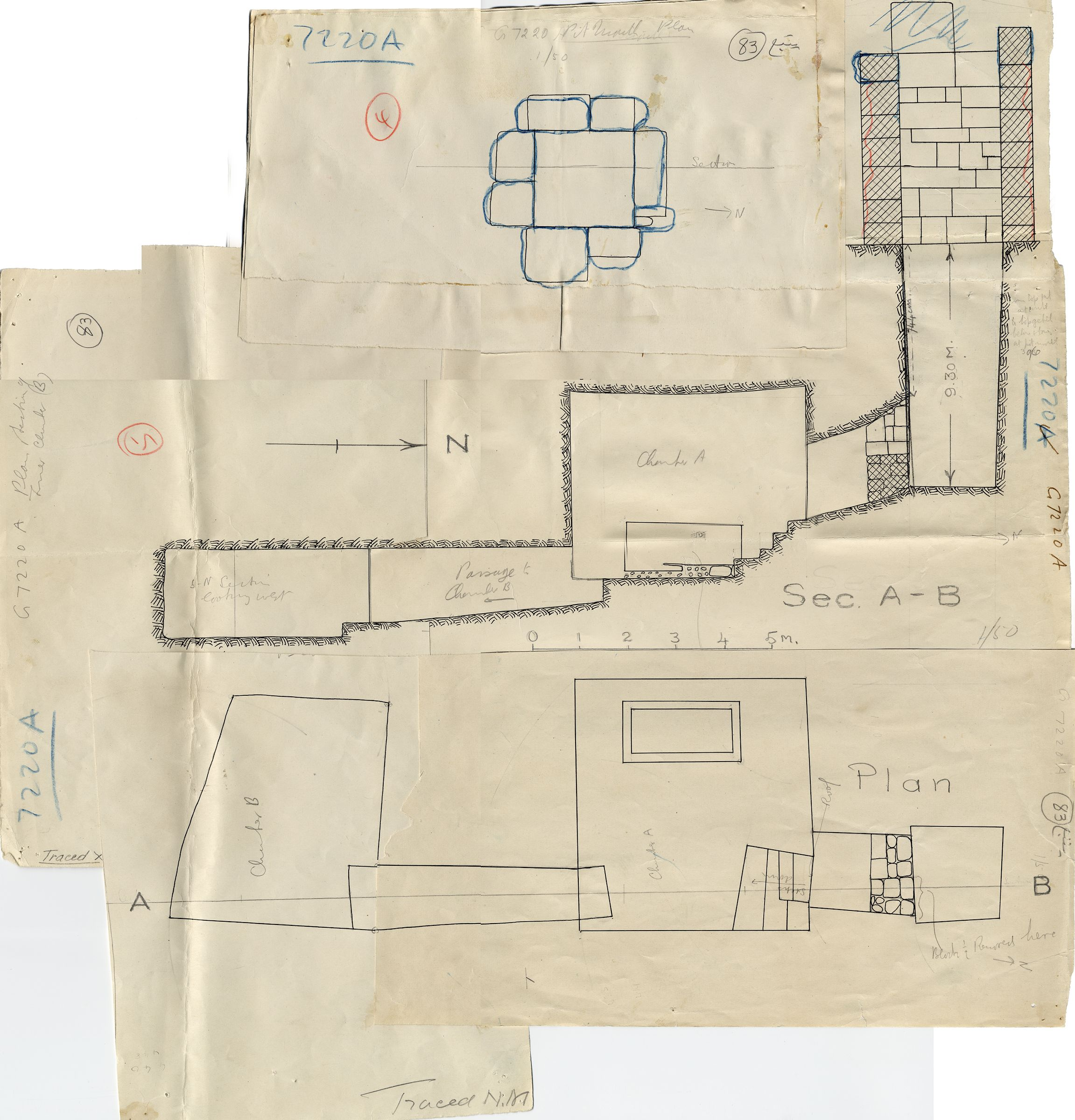 Maps and plans: G 7210-7220: G 7220, Shaft A