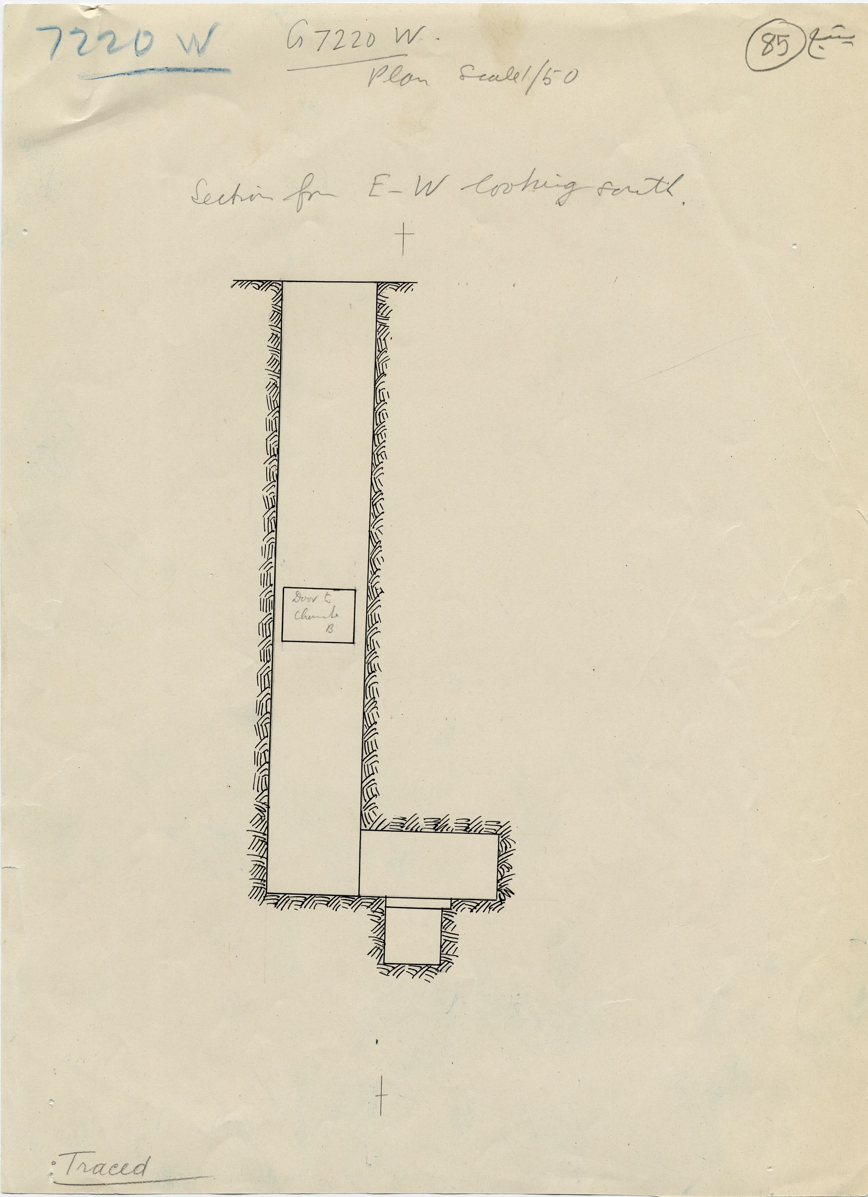 Maps and plans: G 7210-7220: G 7220, Shaft W