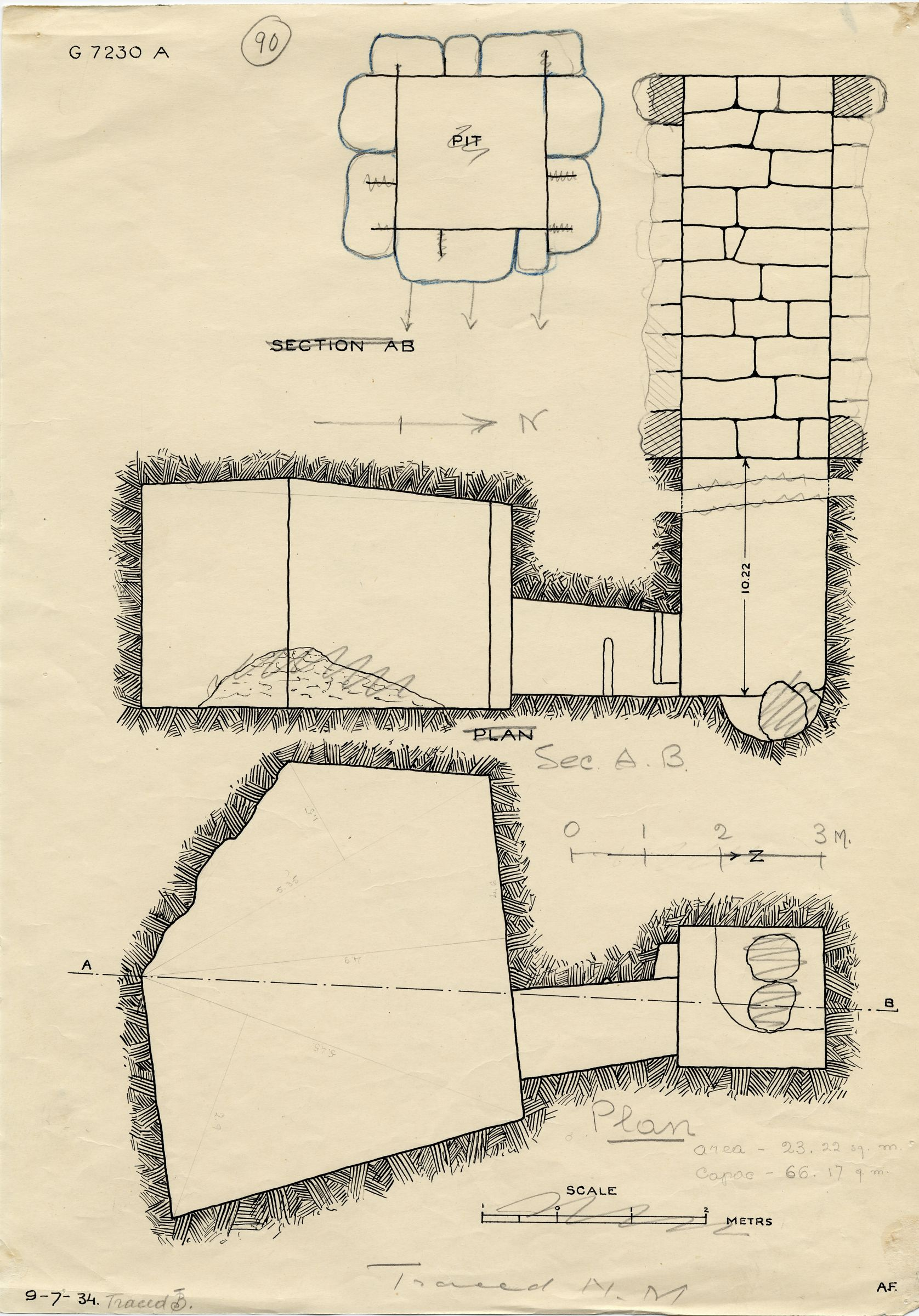 Maps and plans: G 7230-7240: G 7230, Shaft A
