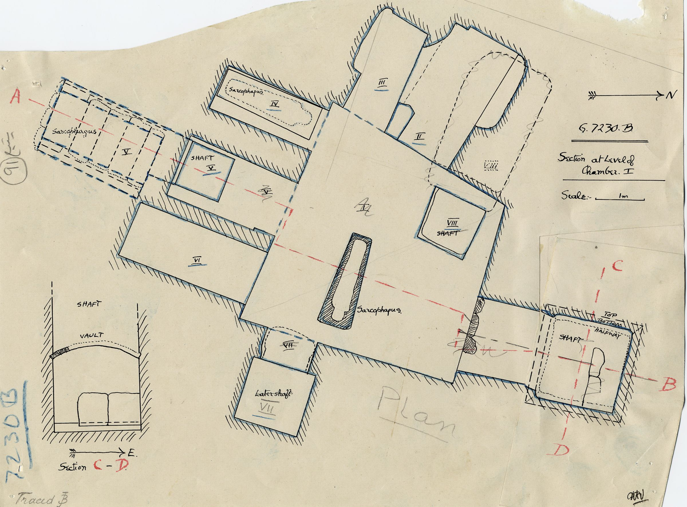 Maps and plans: G 7230-7240: G 7230, Shaft B