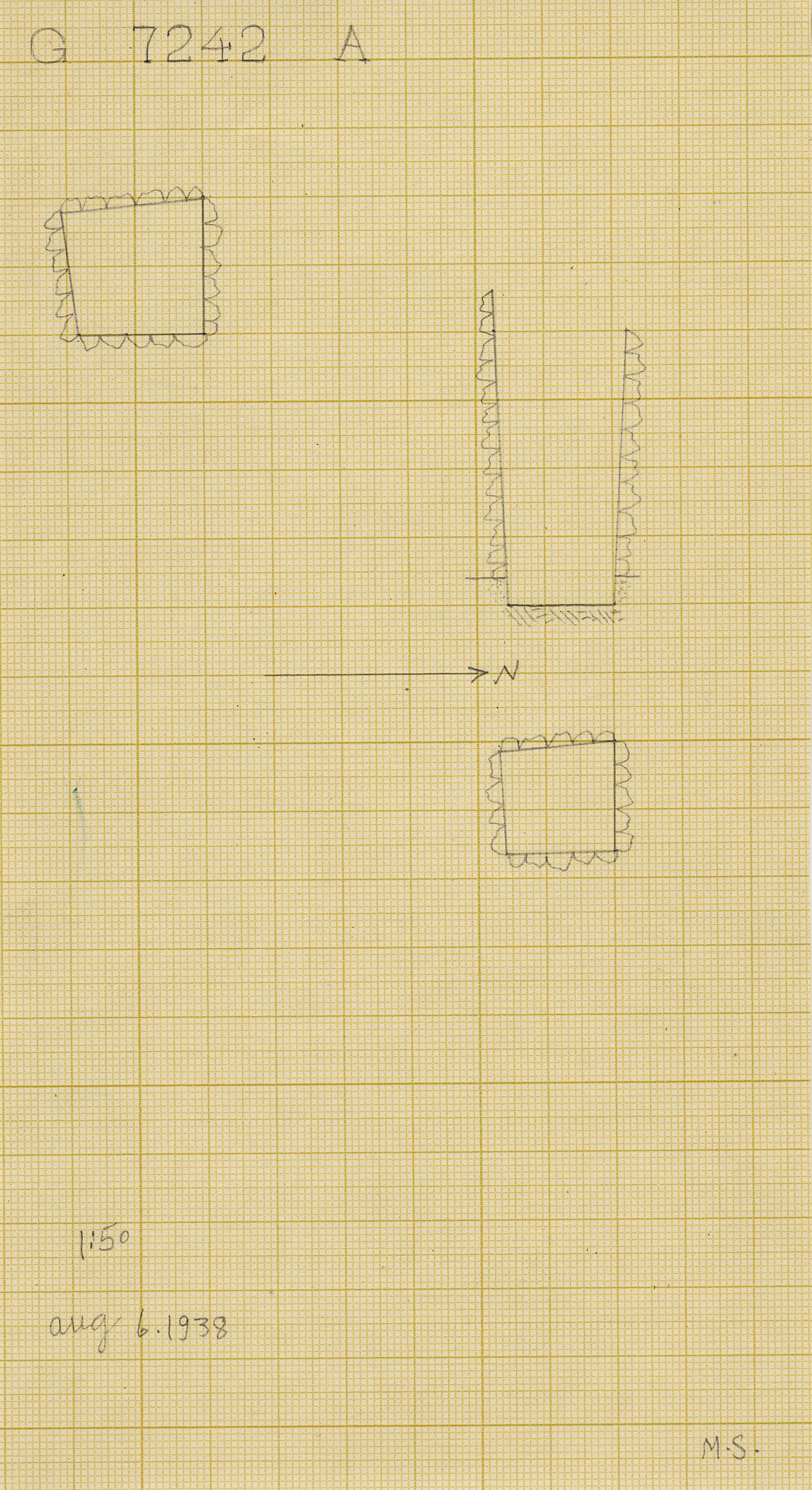 Maps and plans: G 7242, Shaft A