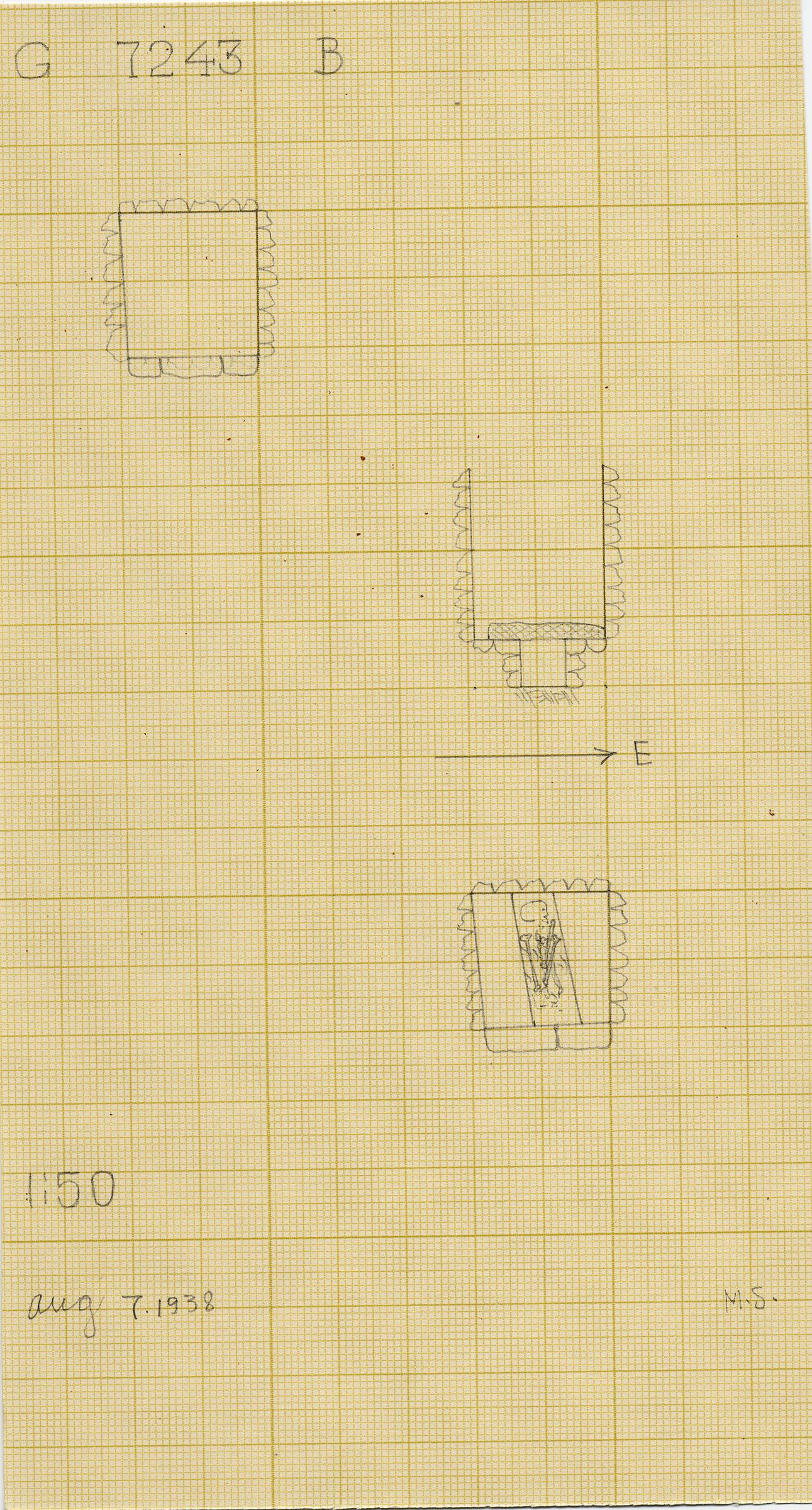 Maps and plans: G 7243, Shaft B