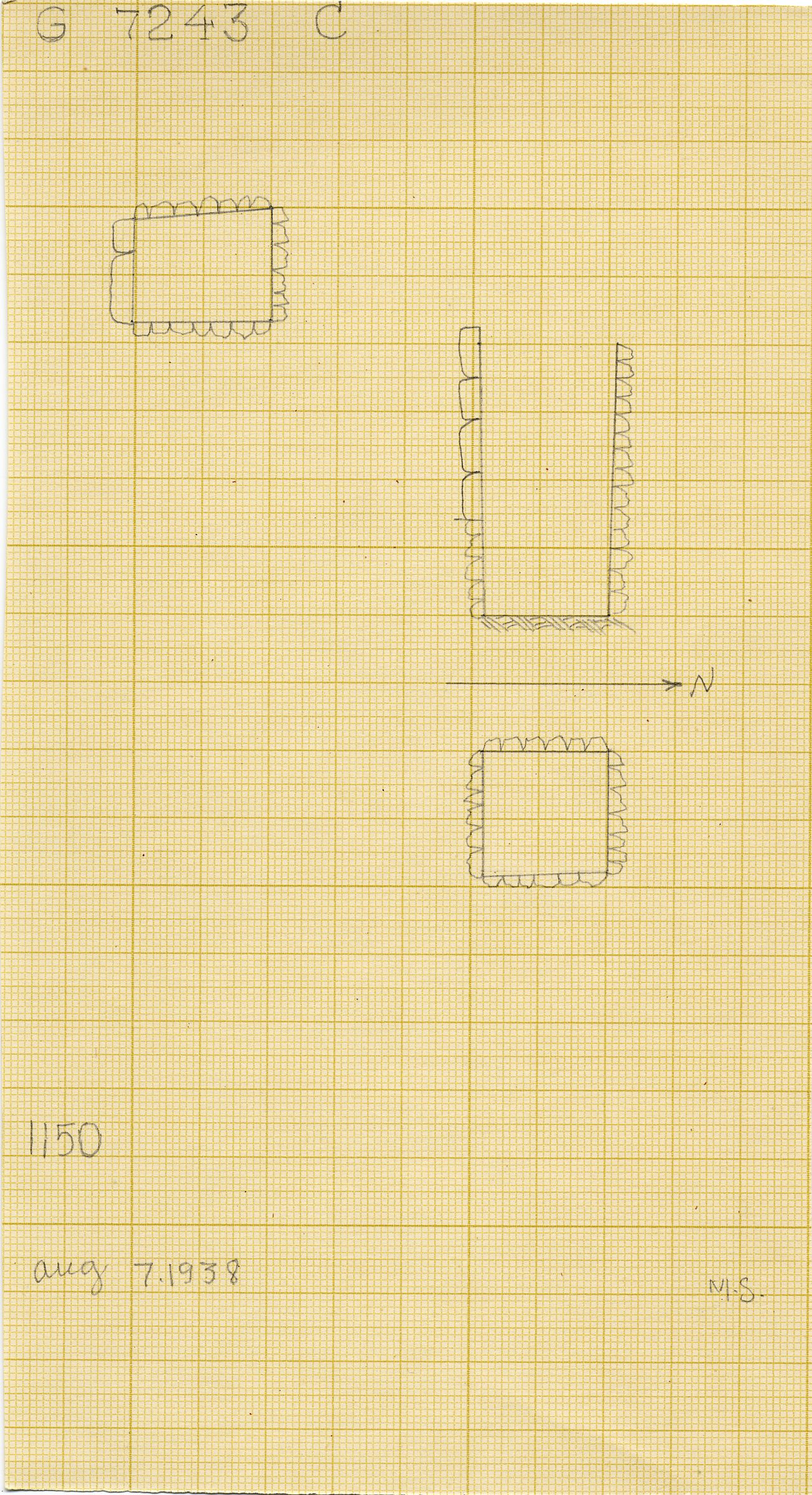 Maps and plans: G 7243, Shaft C