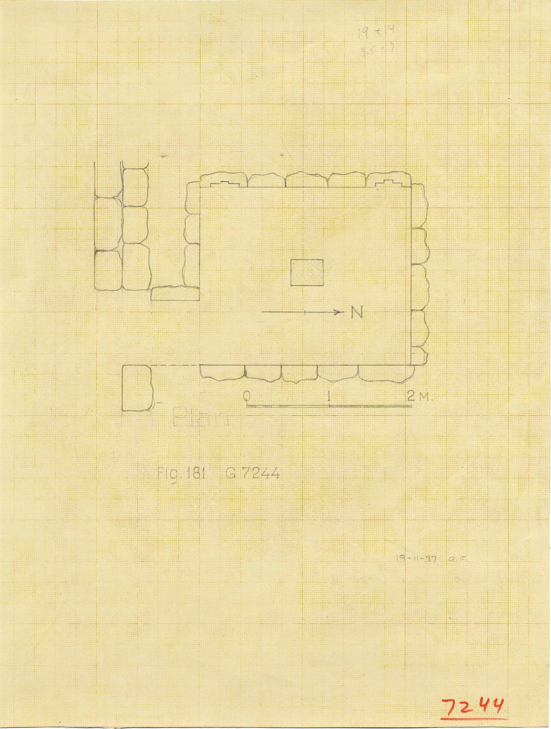 Maps and plans: G 7244+7246, Plan of chapel
