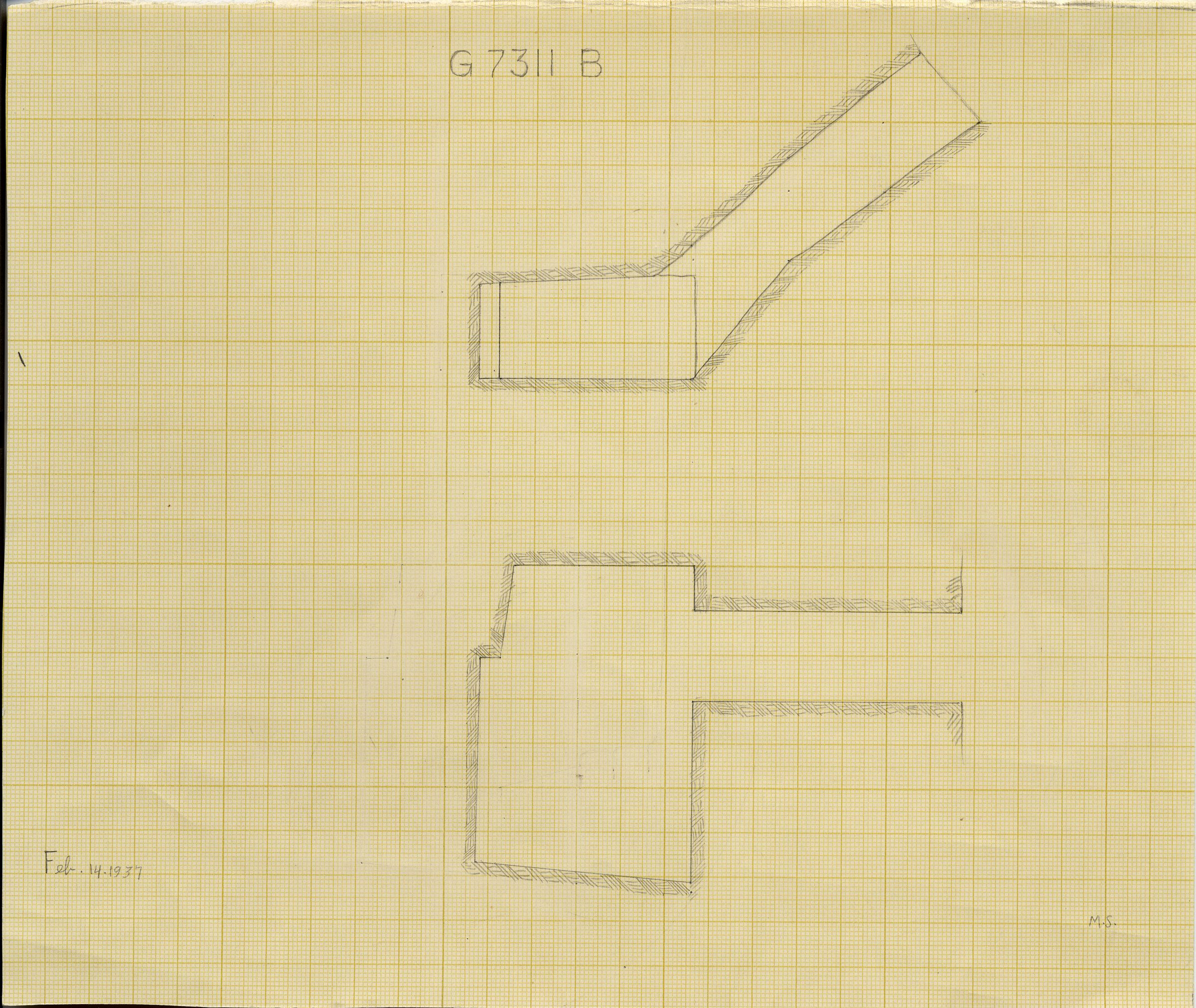 Maps and plans: G 7311, Shaft B