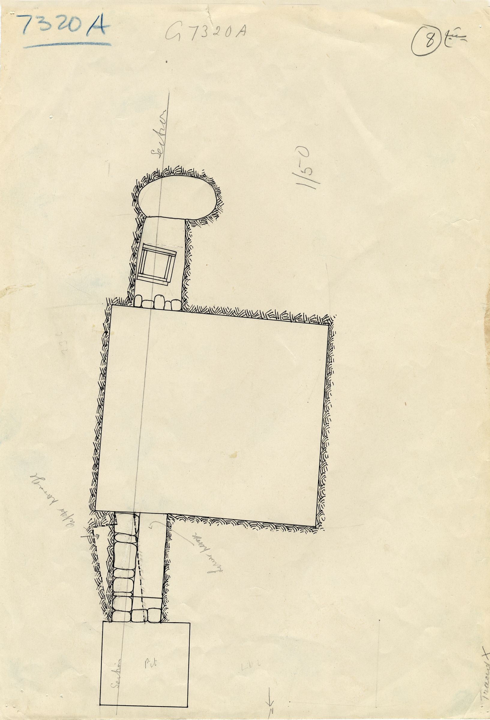 Maps and plans: G 7310-7320: G 7320, Shaft A