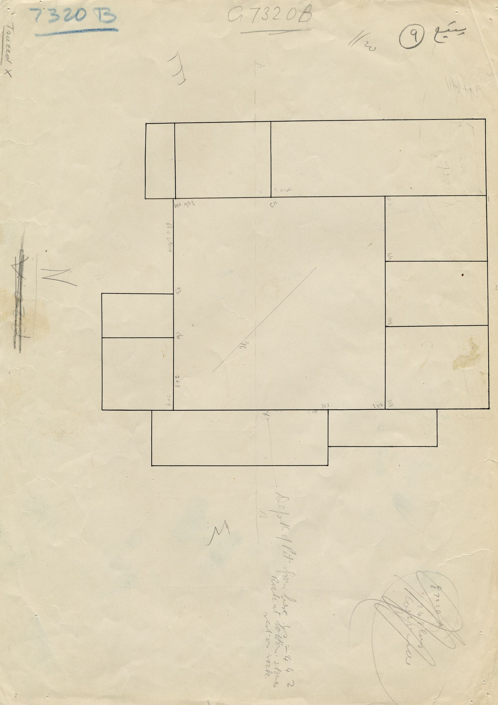 Maps and plans: G 7310-7320: G 7320, Shaft B