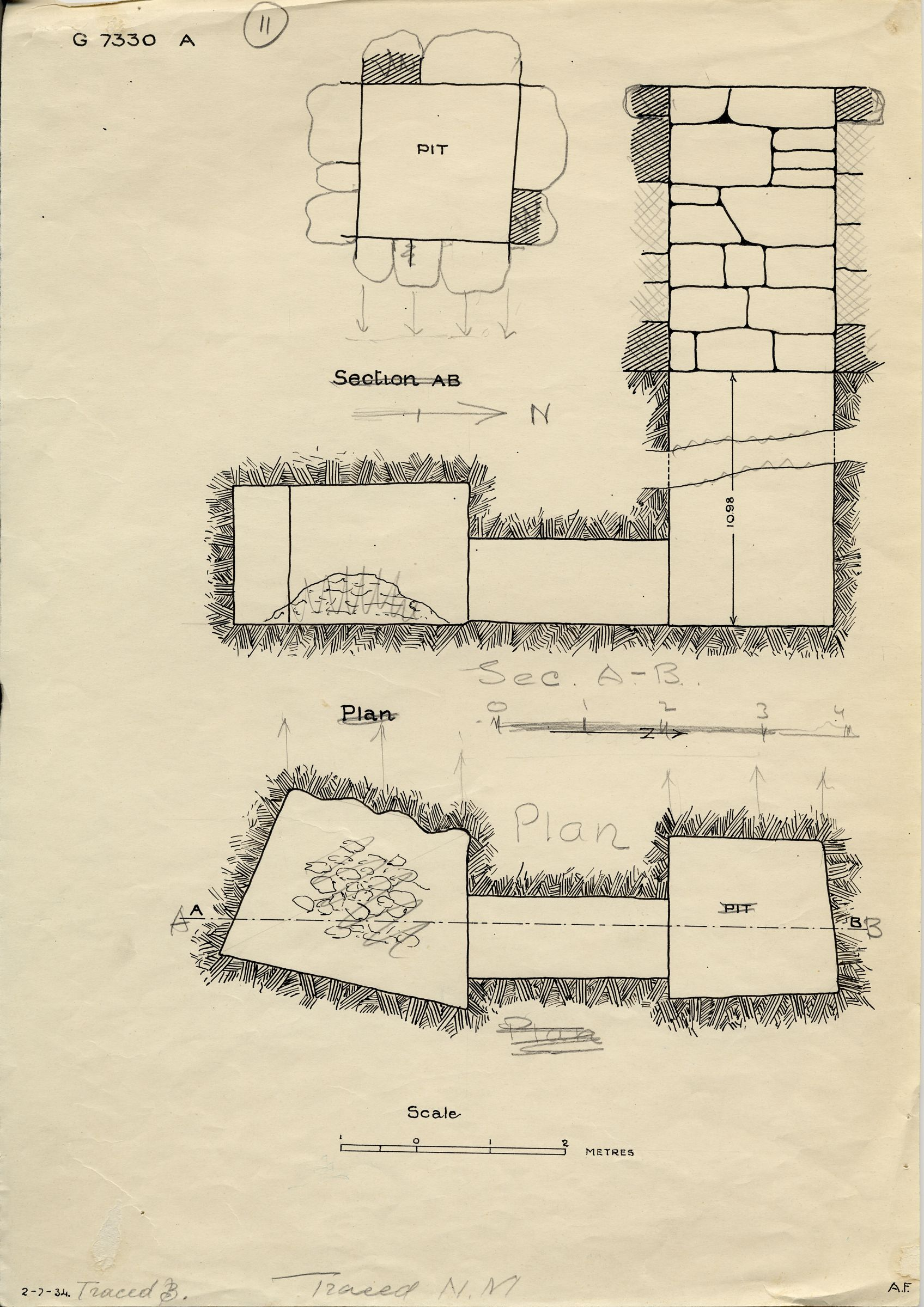 Maps and plans: G 7330-7340: G 7330, Shaft A