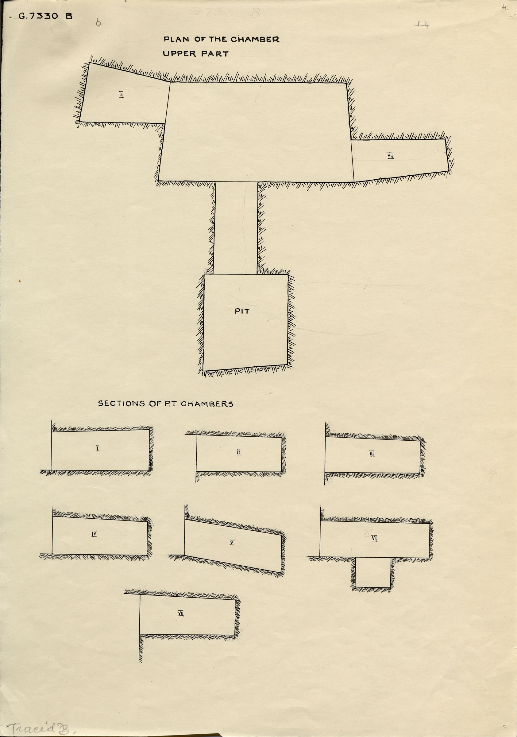 Maps and plans: G 7330-7340: G 7330, Shaft B