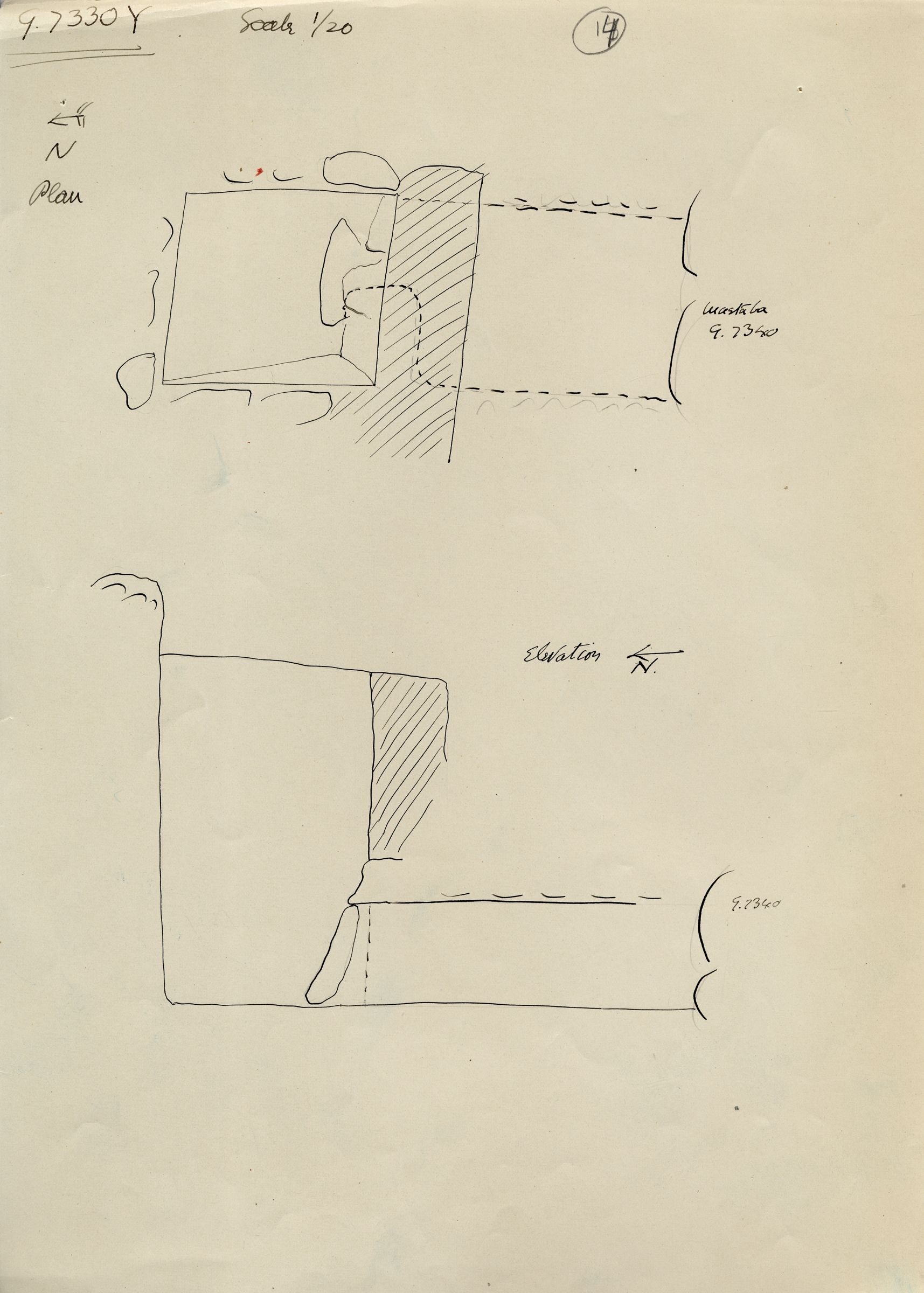 Maps and plans: G 7330-7340: G 7330, Shaft Y