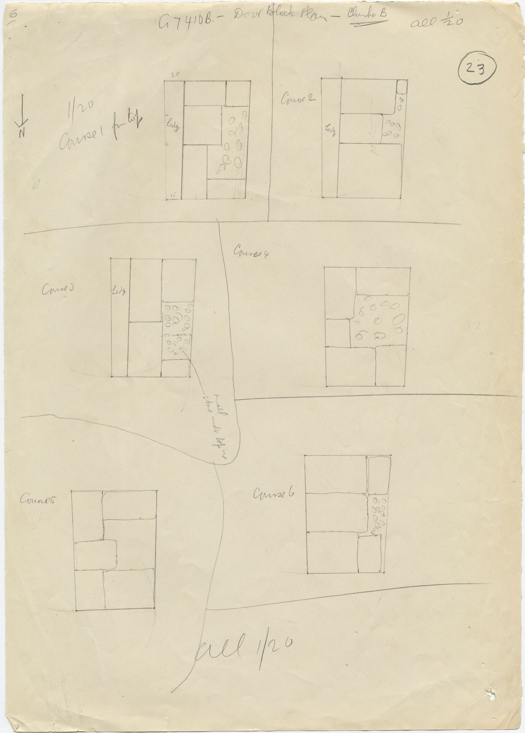 Maps and plans: G 7410-7420: G 7410, Shaft B