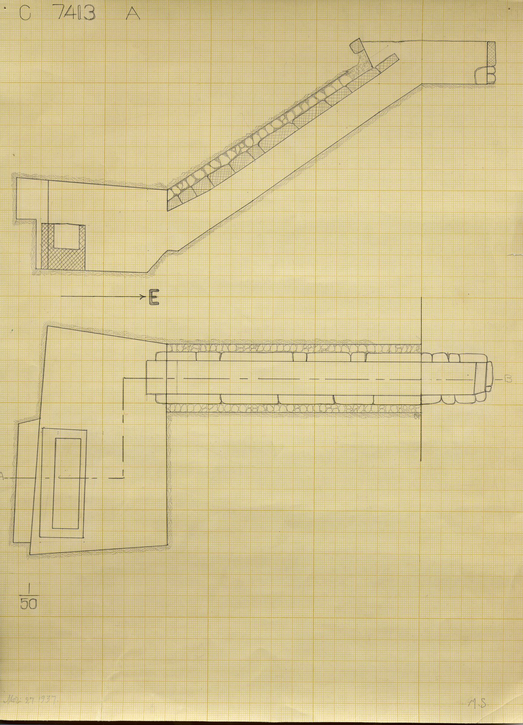 Maps and plans: G 7413, Shaft A