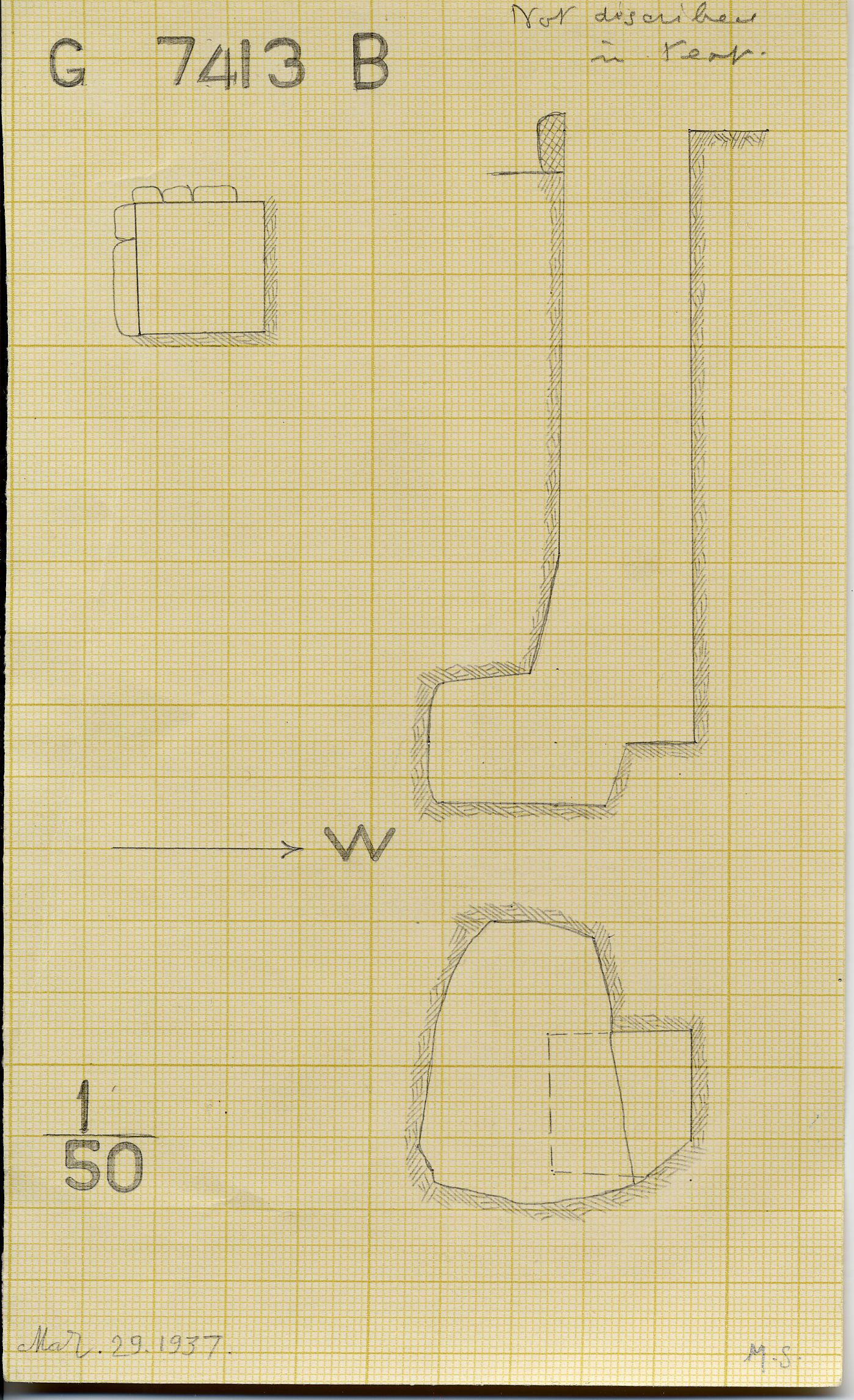 Maps and plans: G 7413, Shaft B