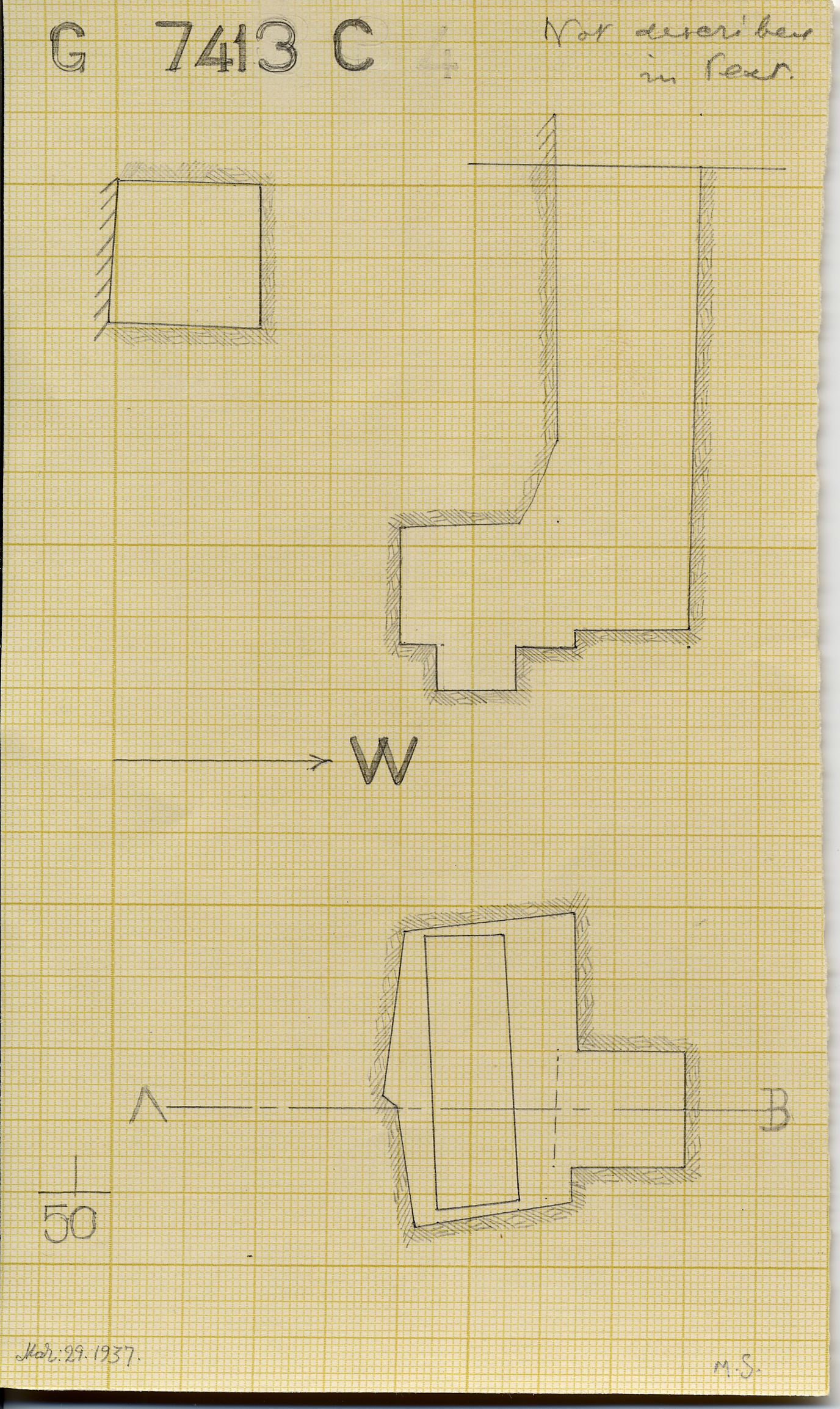 Maps and plans: G 7413, Shaft C