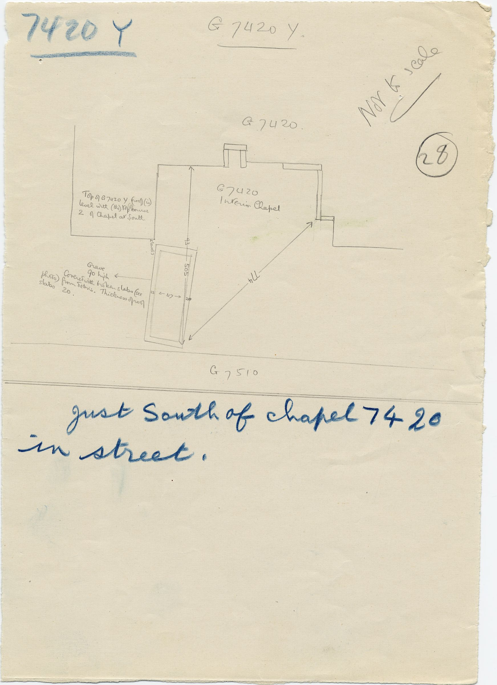 Maps and plans: G 7410-7420: G 7420, Shaft Y