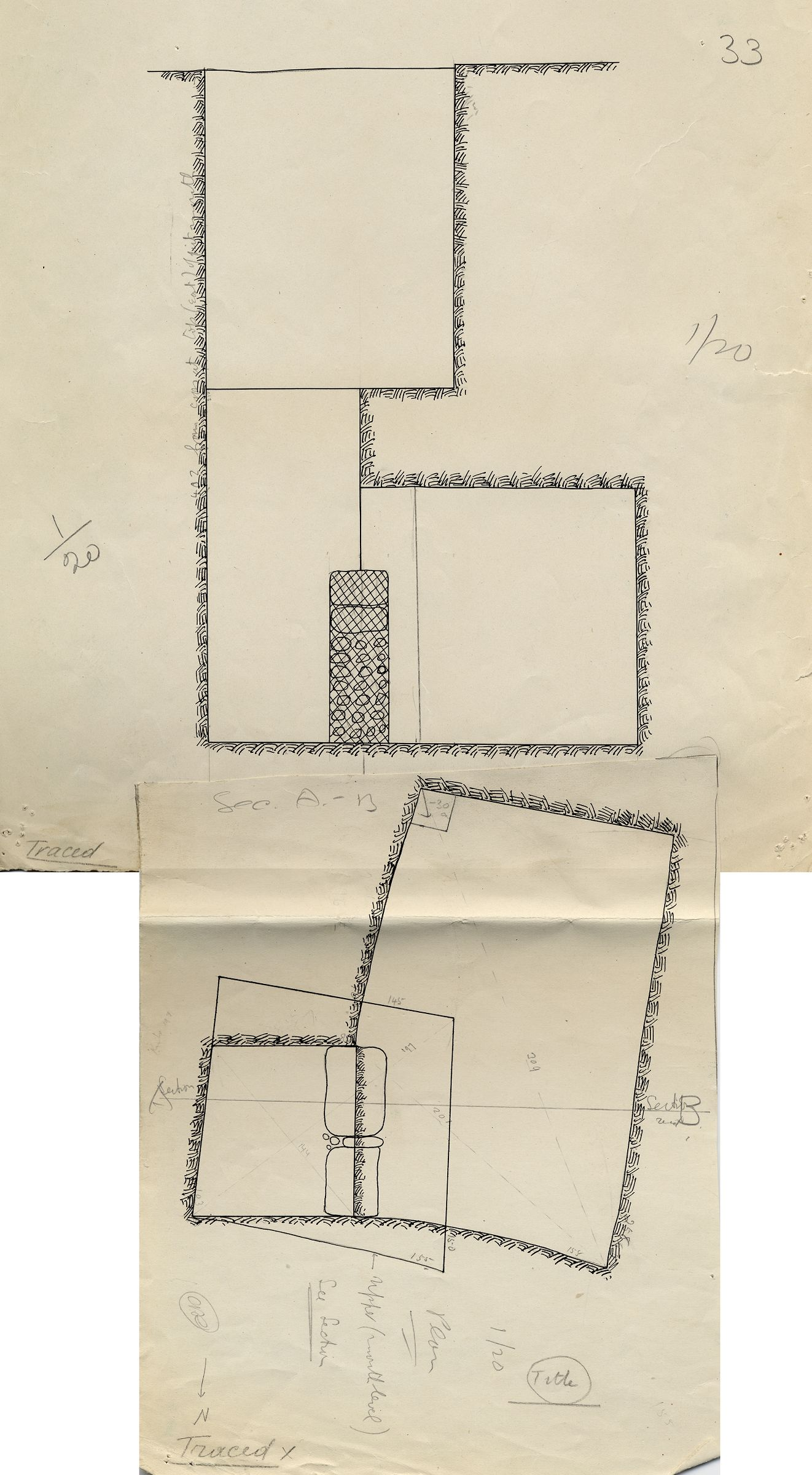 Maps and plans: G 7422, Shaft C
