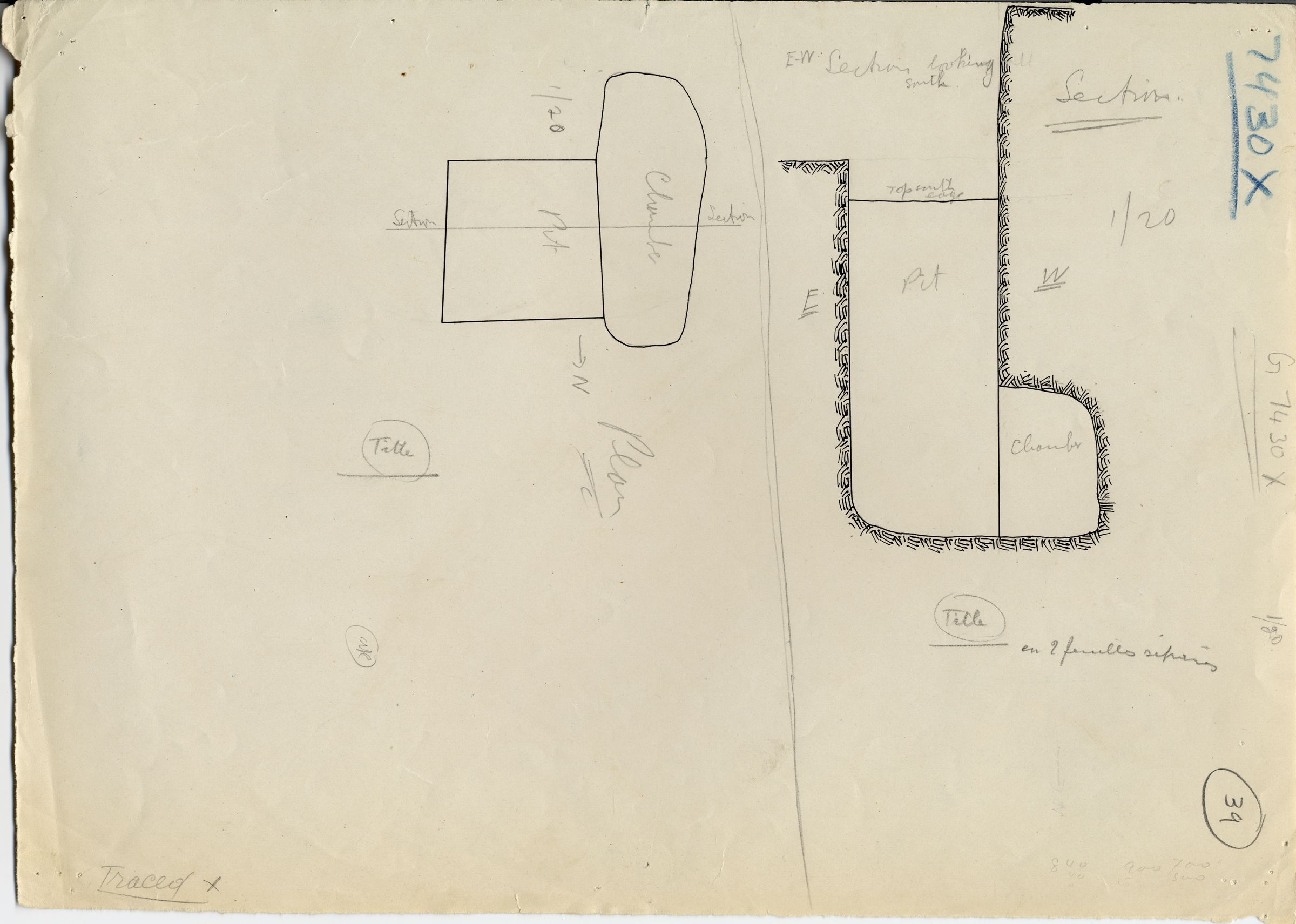 Maps and plans: G 7430-7440: G 7430, Shaft X